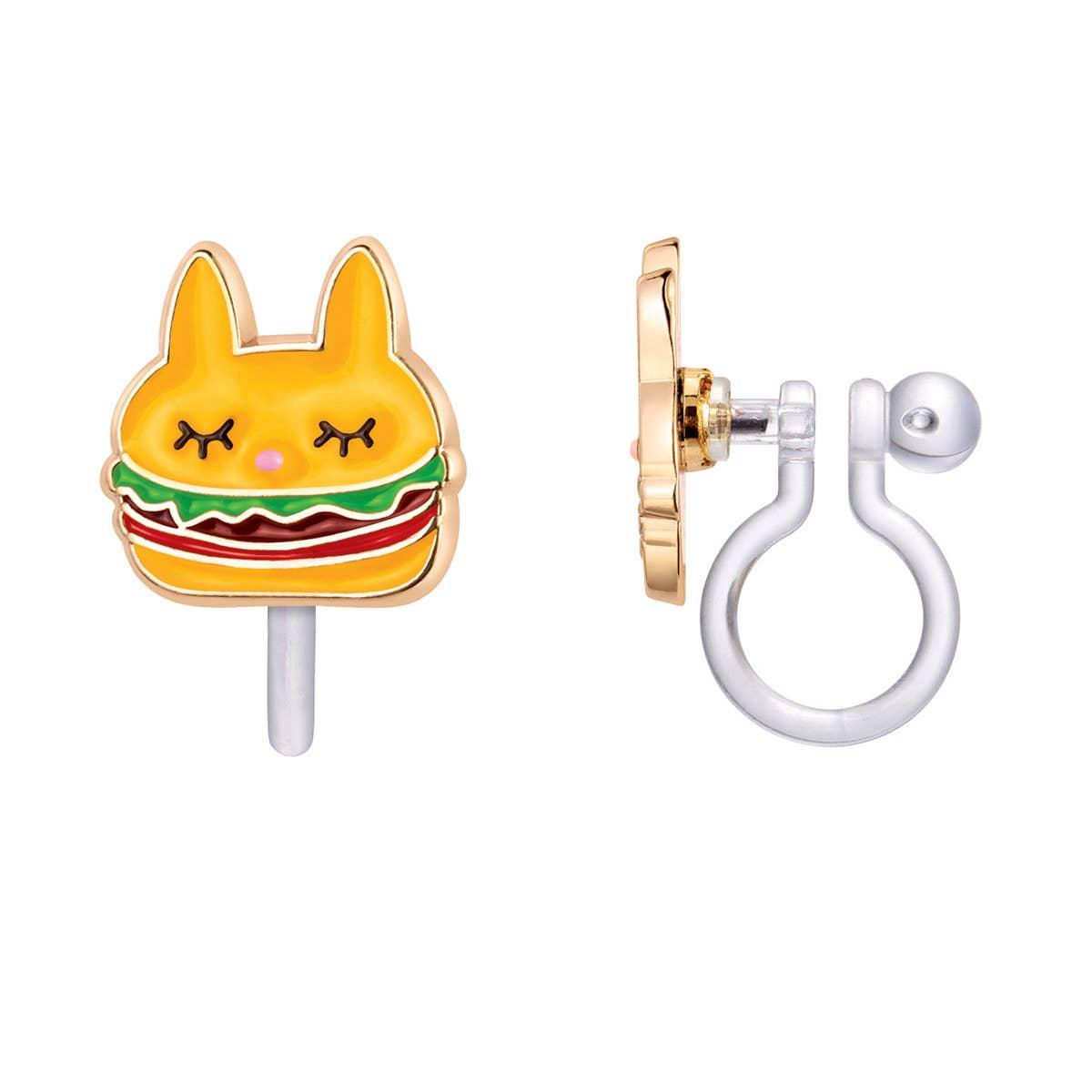 CLIP ON Cutie Earrings- Un-Burger-lievable   Trada Marketplace