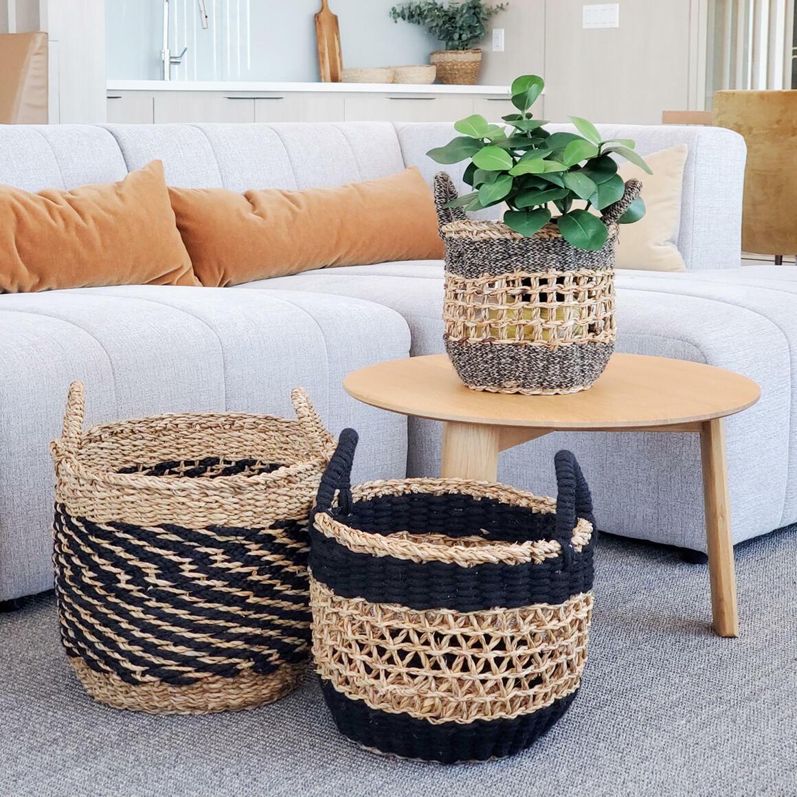 Ula Mesh Basket - Black (Set of 3) | Trada Marketplace