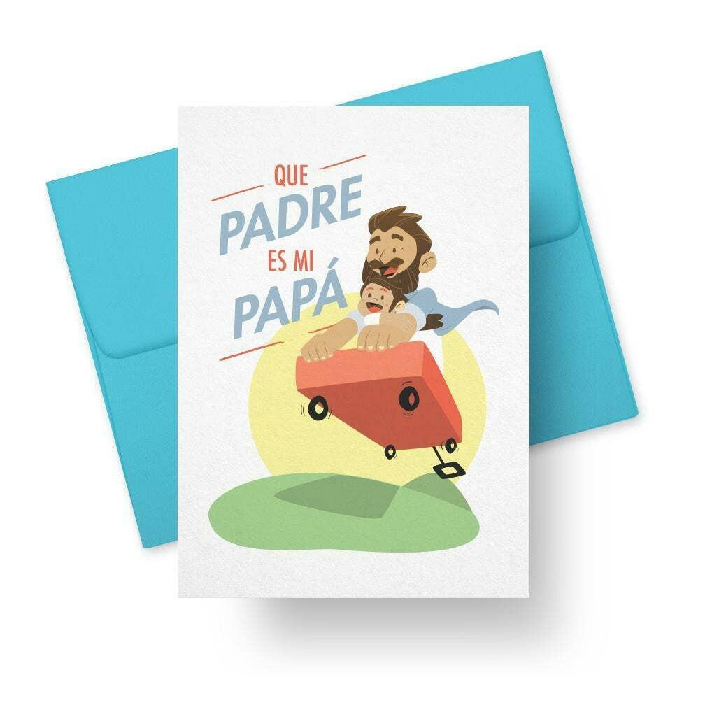 Que Padre Es Mi Papá - Spanish Fathers Day Greeting Card   Trada Marketplace
