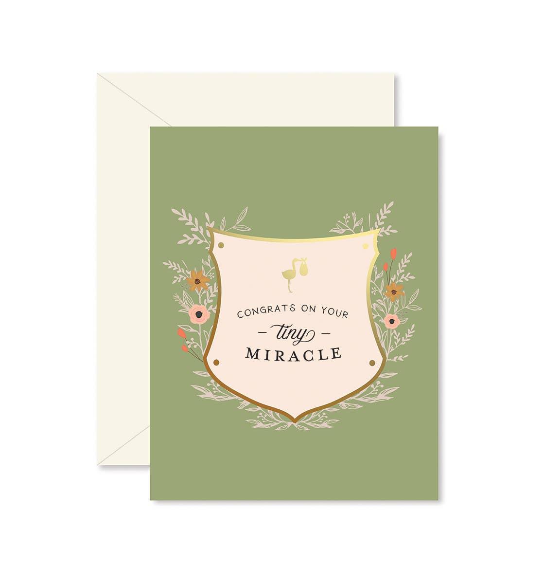 Tiny Miracle Greeting Card   Trada Marketplace