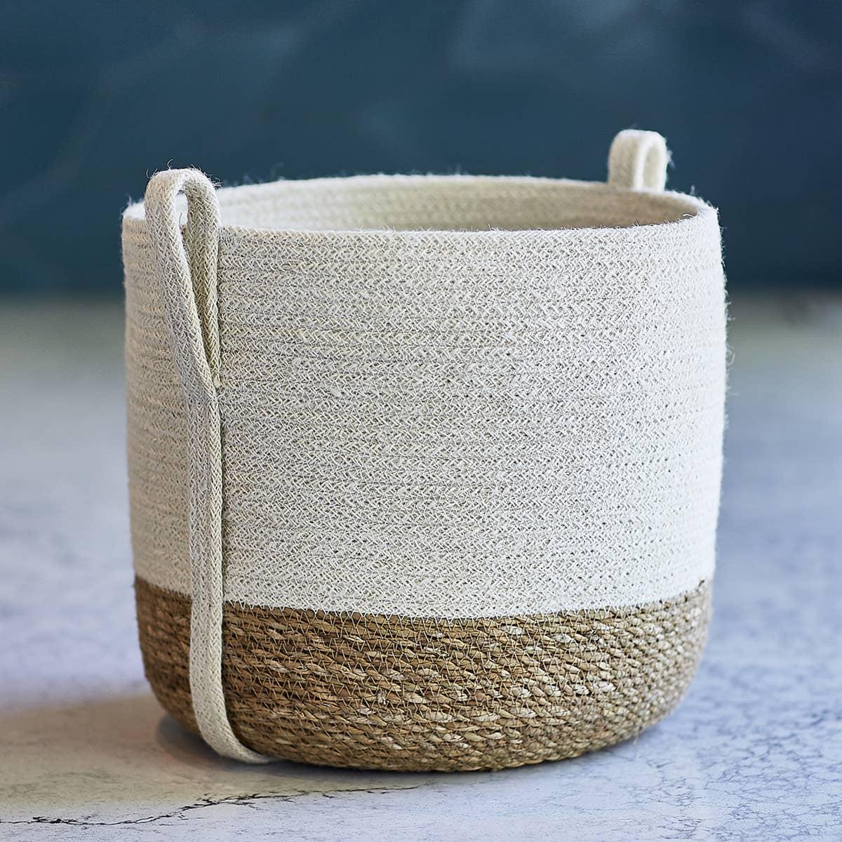 Savar Basket with Side handle (Set of 2)   Trada Marketplace