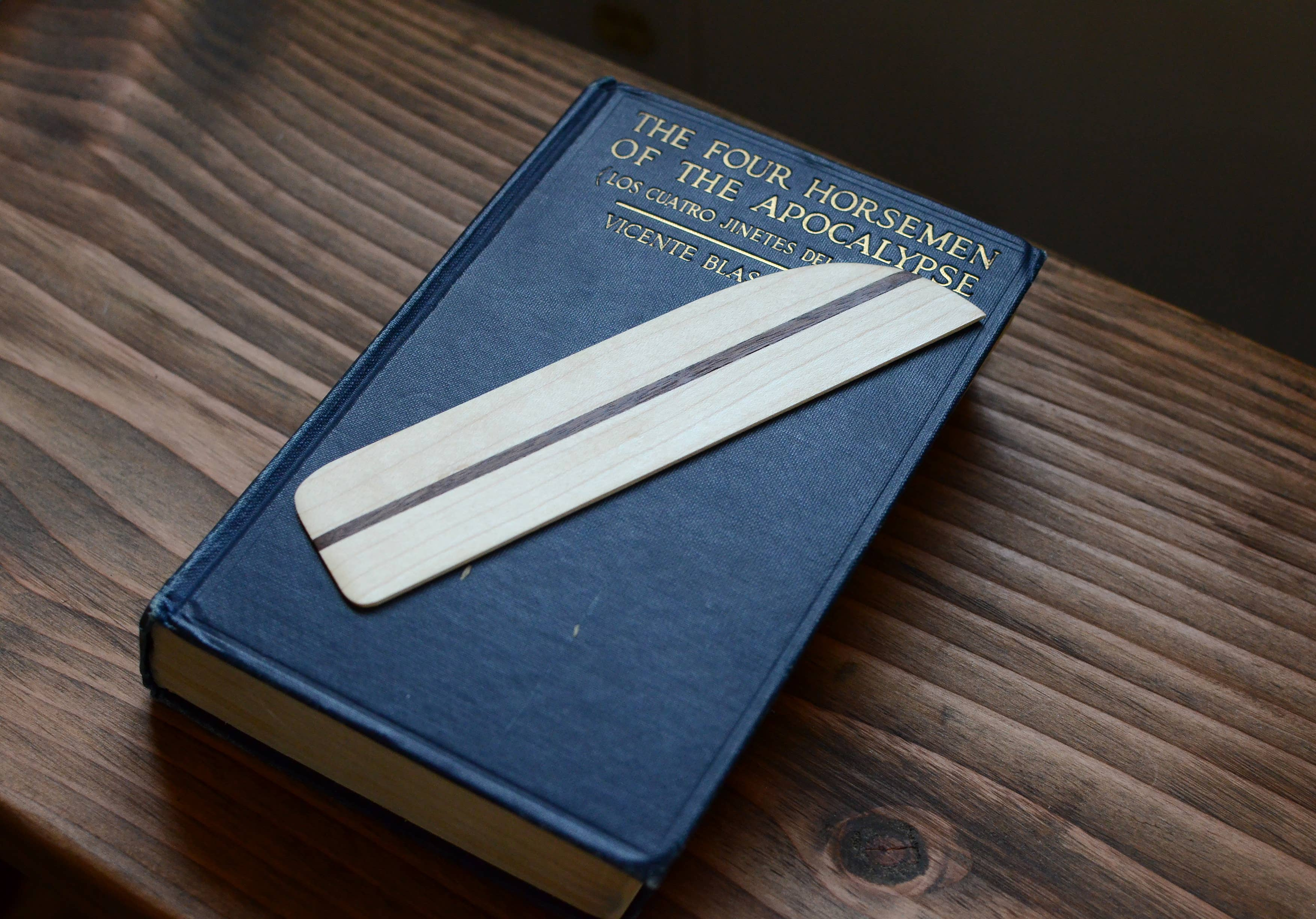 Maple & Black Walnut Wooden Bookmark | Trada Marketplace