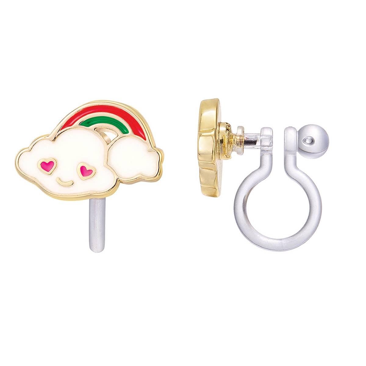 CLIP ON Cutie Earrings- Cloud Luvs Rainbow | Trada Marketplace
