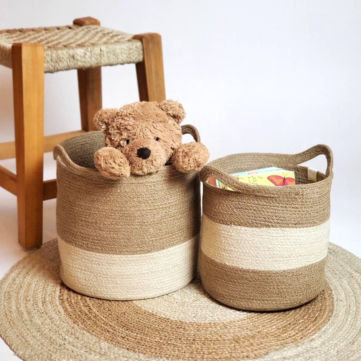 Agora Color Block Basket (Set of 2) | Trada Marketplace