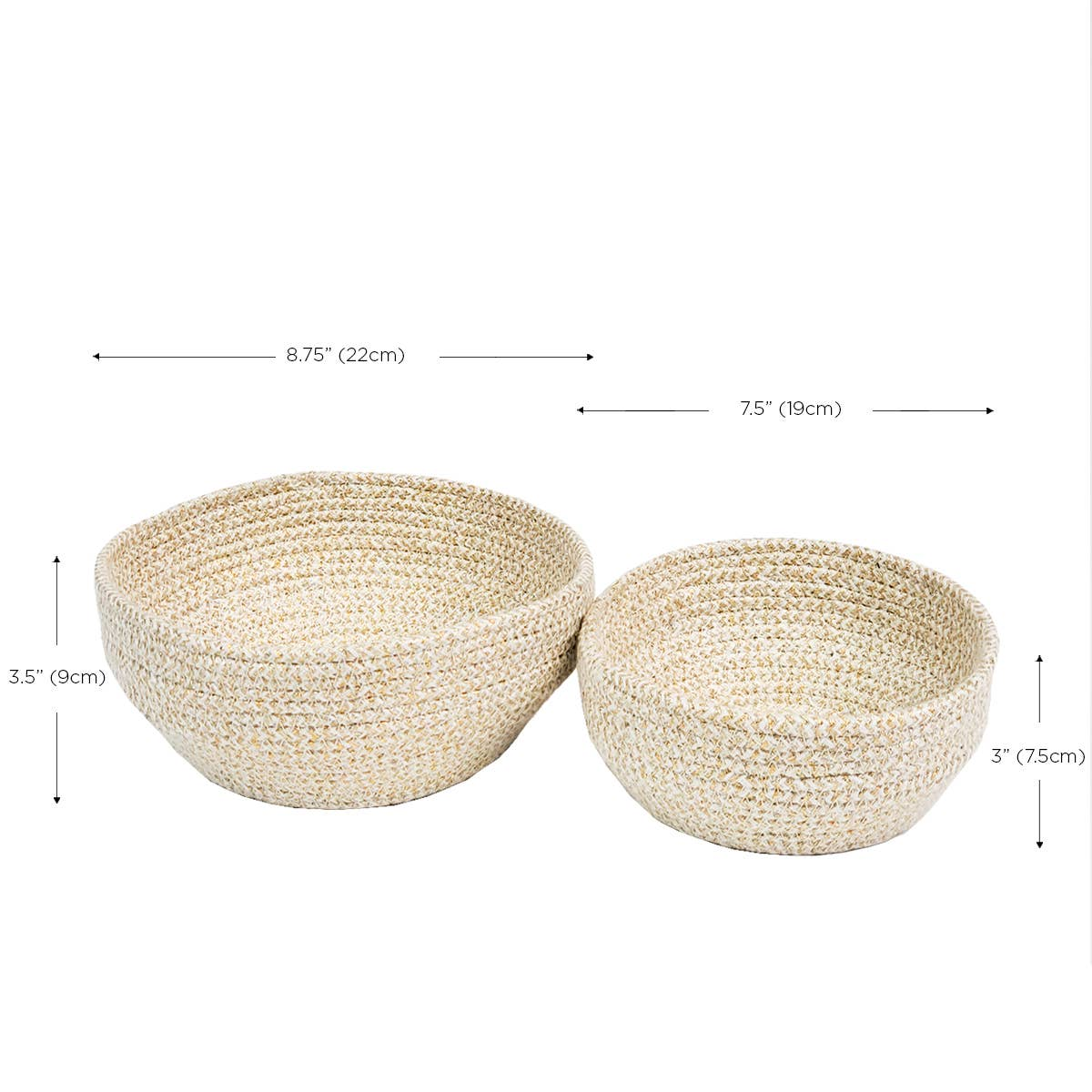 Glitter Bowl - White (Set of 2)   Trada Marketplace
