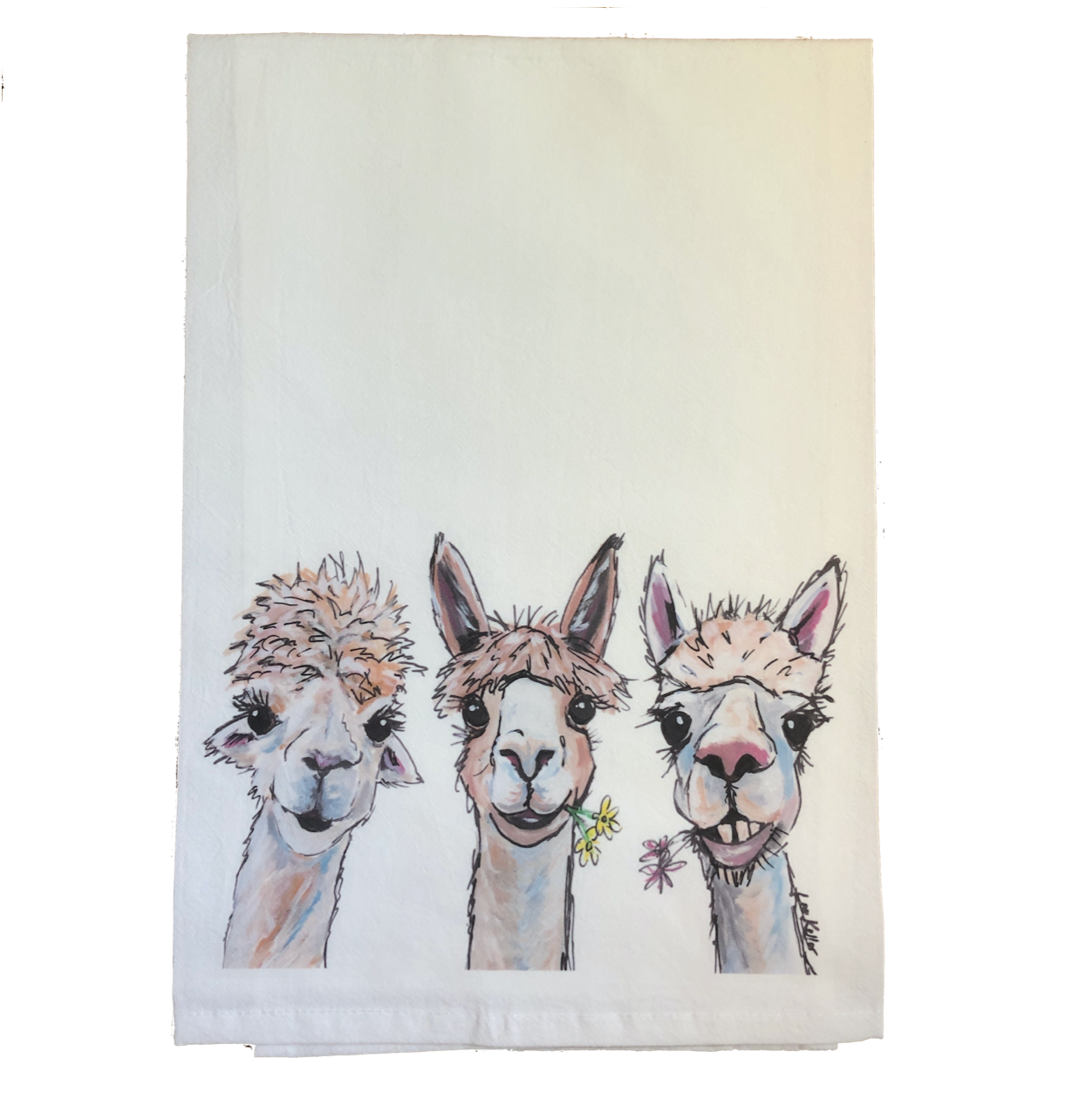 Alpaca Flour Sack Towel, Alpaca Tea Towel Kitchen Decor   Trada Marketplace