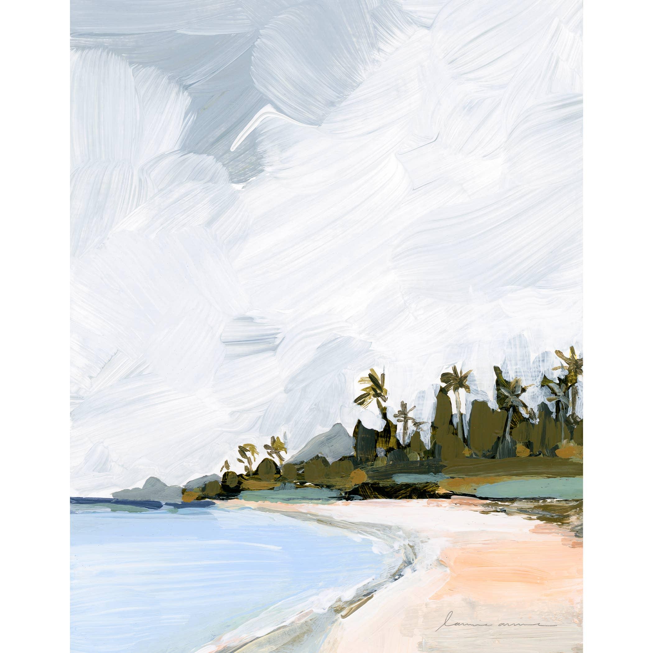Palm Island Vertical Canvas Print   Trada Marketplace