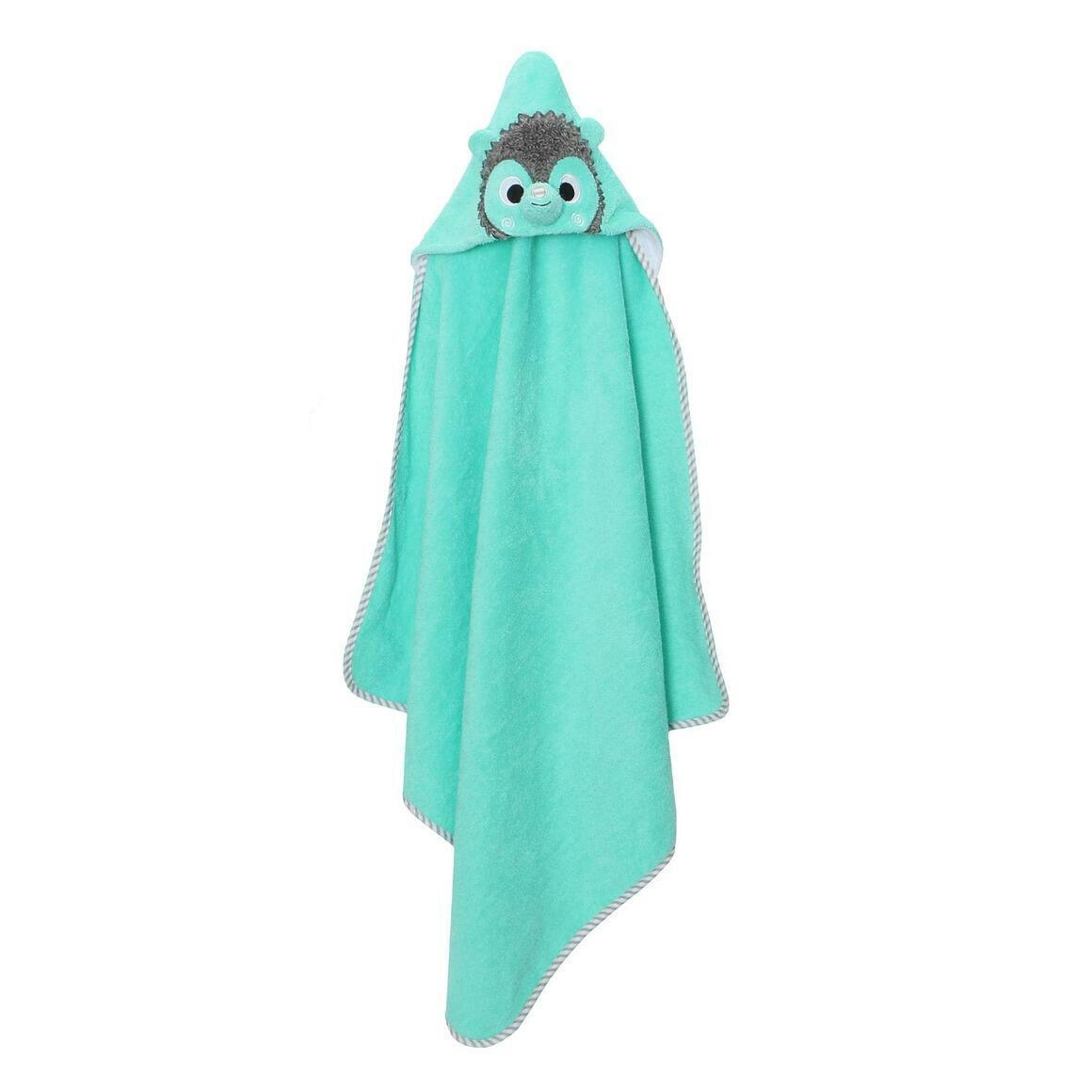 Baby Snow Terry Hooded Bath Towel Hedgehog 0-18M | Trada Marketplace
