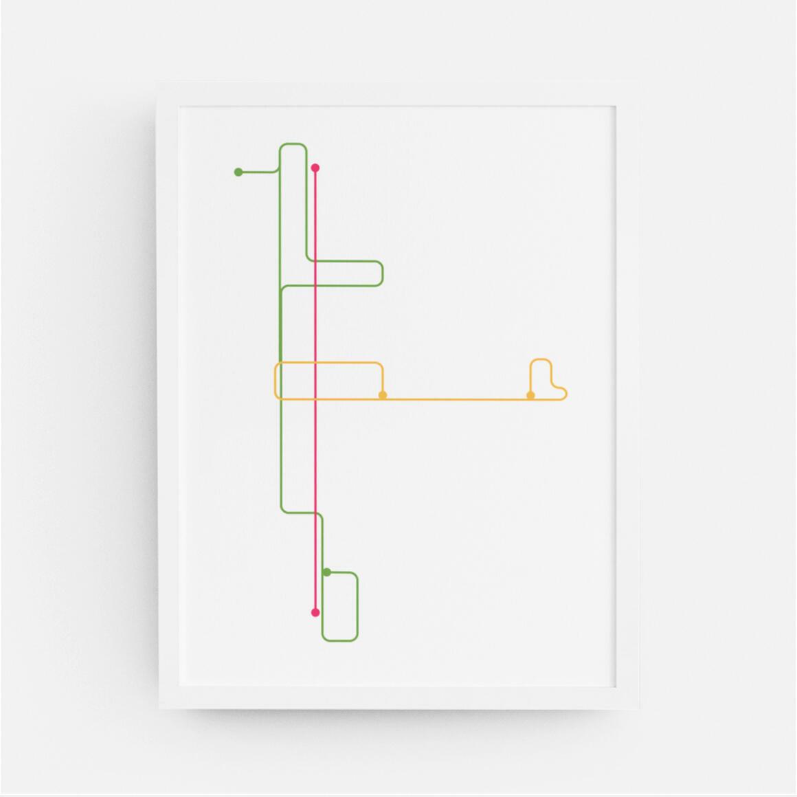 Memphis Trolley Map Print | Trada Marketplace