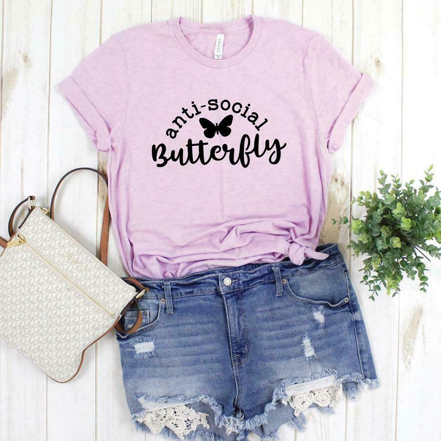 Anti Social Butterfly Graphic Tee | Trada Marketplace
