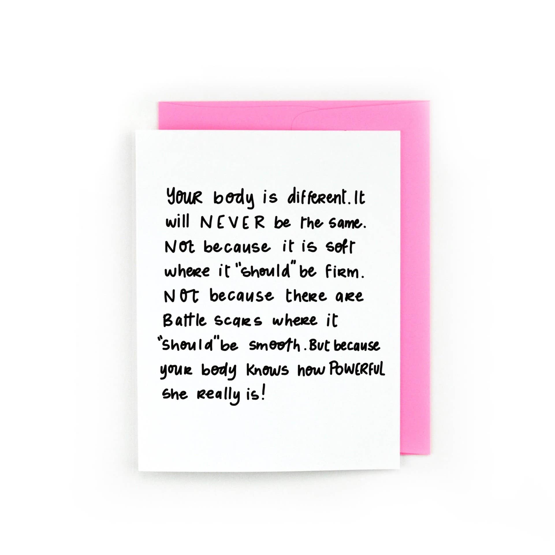 Your Body Is Different, But Powerful, Motherhood Card | Trada Marketplace