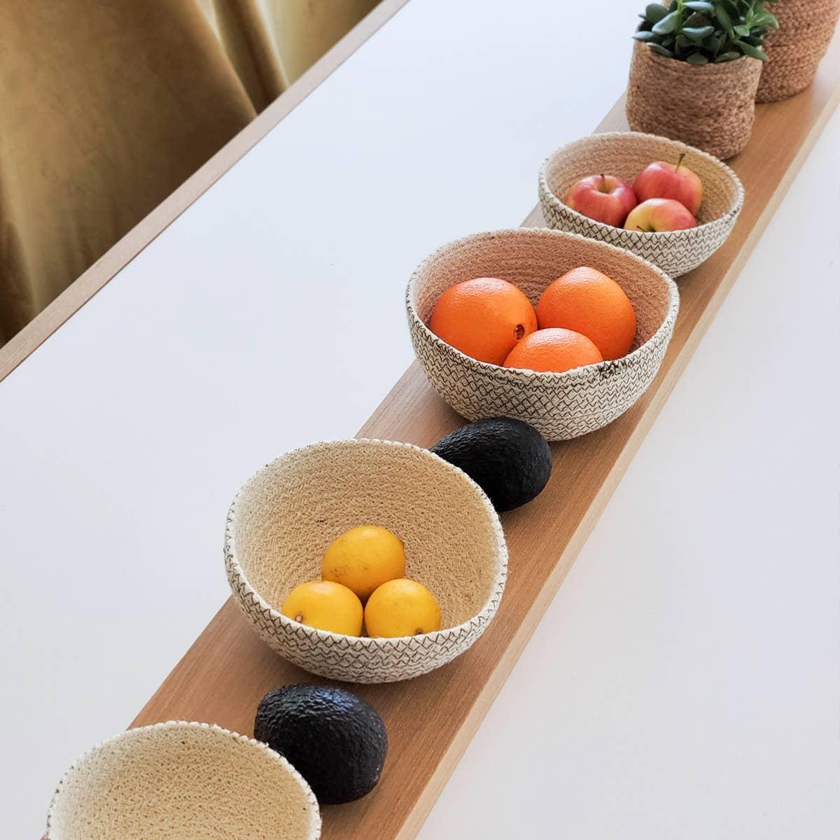 Amari Round Bowl - Brown (Set of 4)   Trada Marketplace