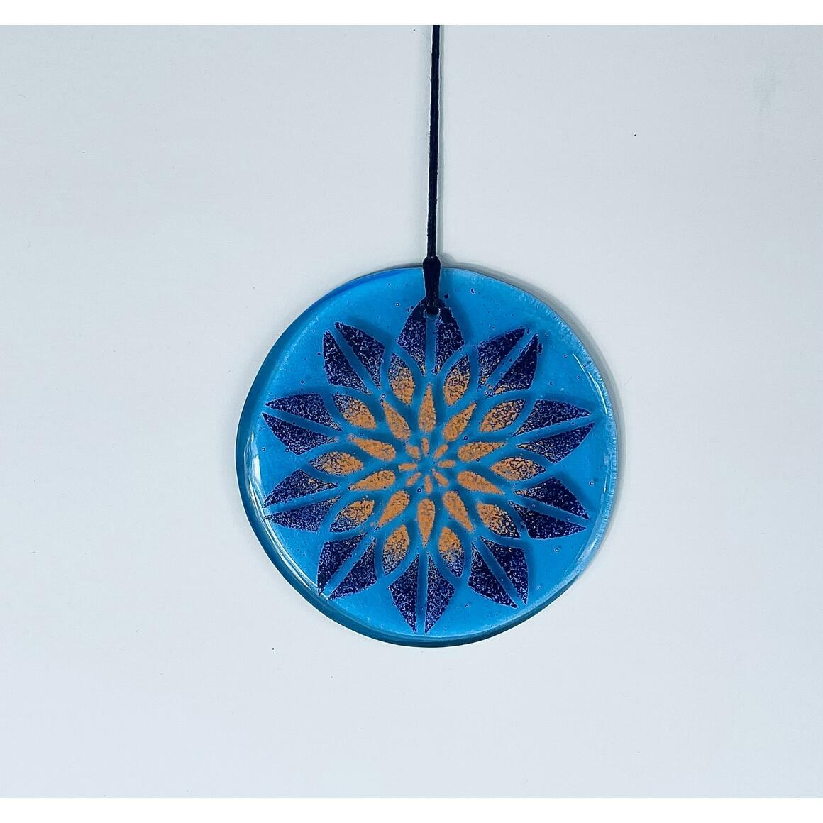 Glass Mandala Window Ornament - Light Sapphire | Trada Marketplace
