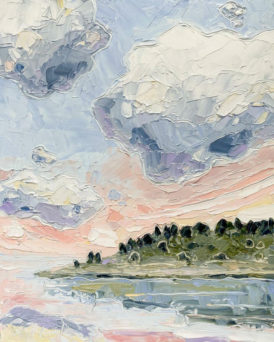 Pink Sunset 3 Vertical Canvas Print | Trada Marketplace