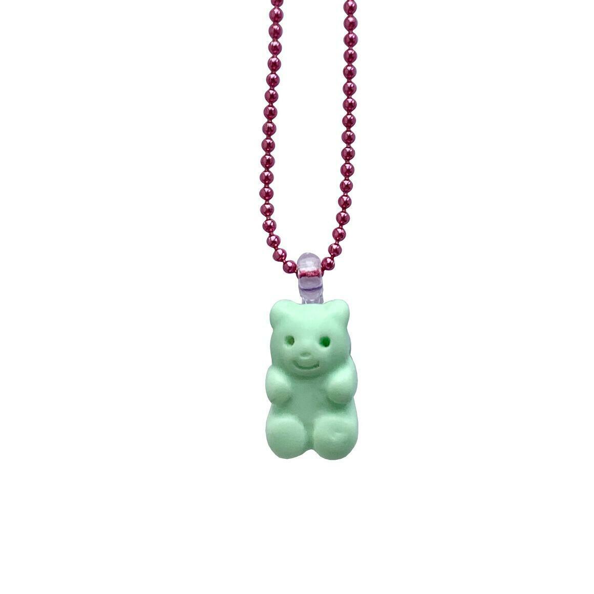Pop Cutie Gacha Marshmallow Bear Kids Necklaces | Trada Marketplace
