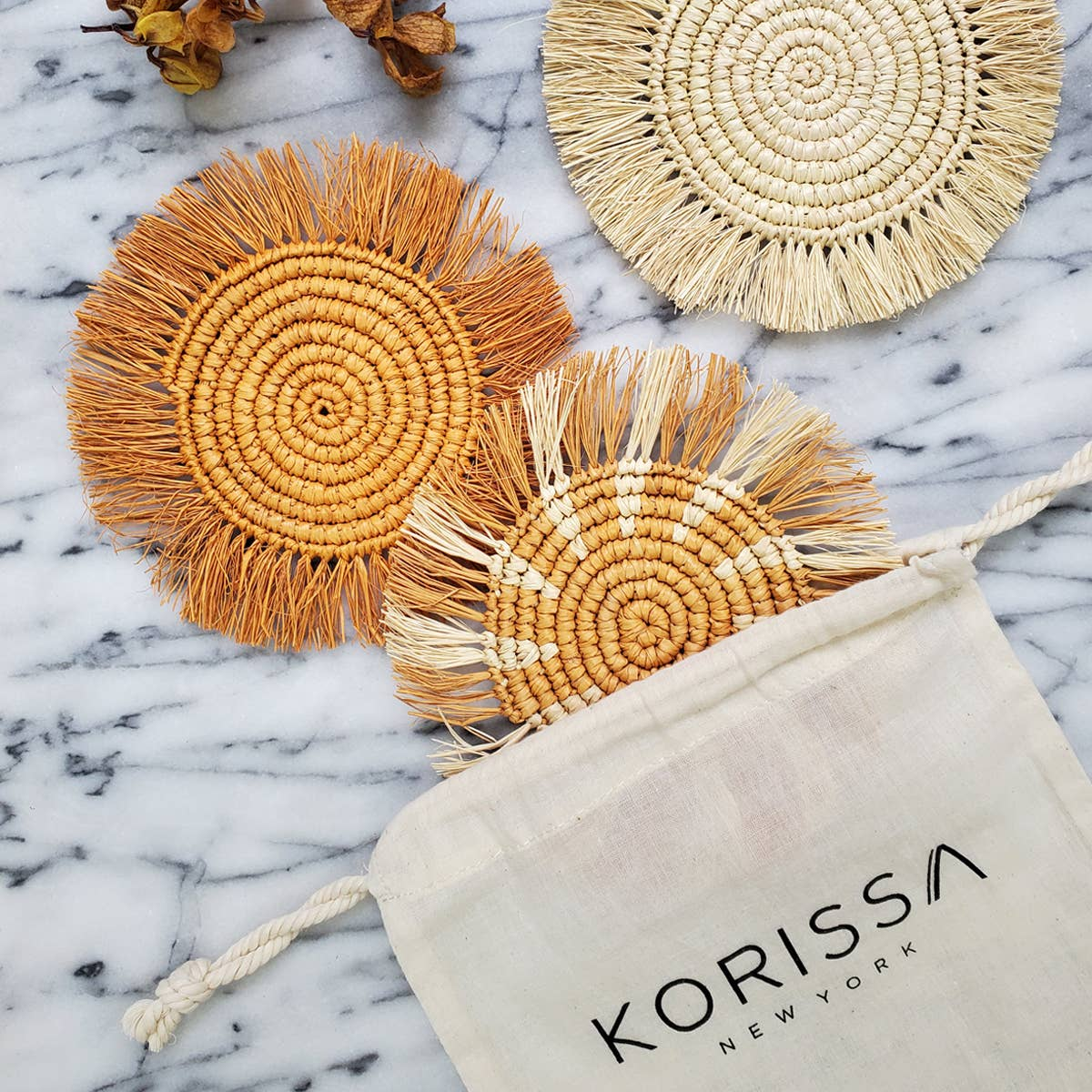 Flor Coaster - Natural   Trada Marketplace