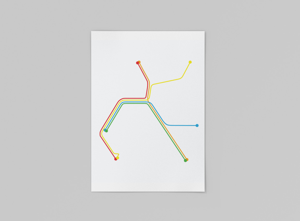 Bay Area Rapid Transit Map Print | Trada Marketplace