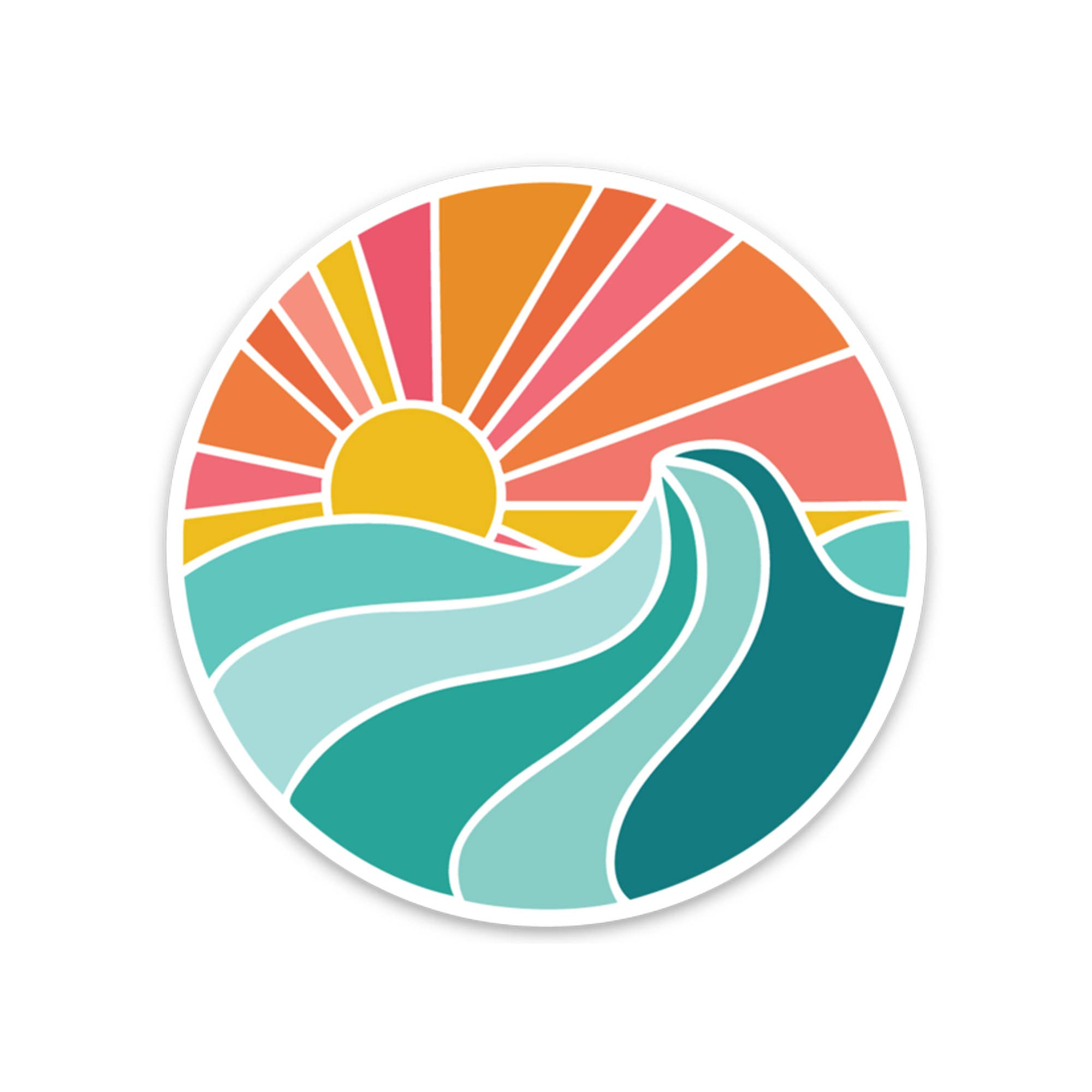 Ocean Sunset Sticker | Trada Marketplace