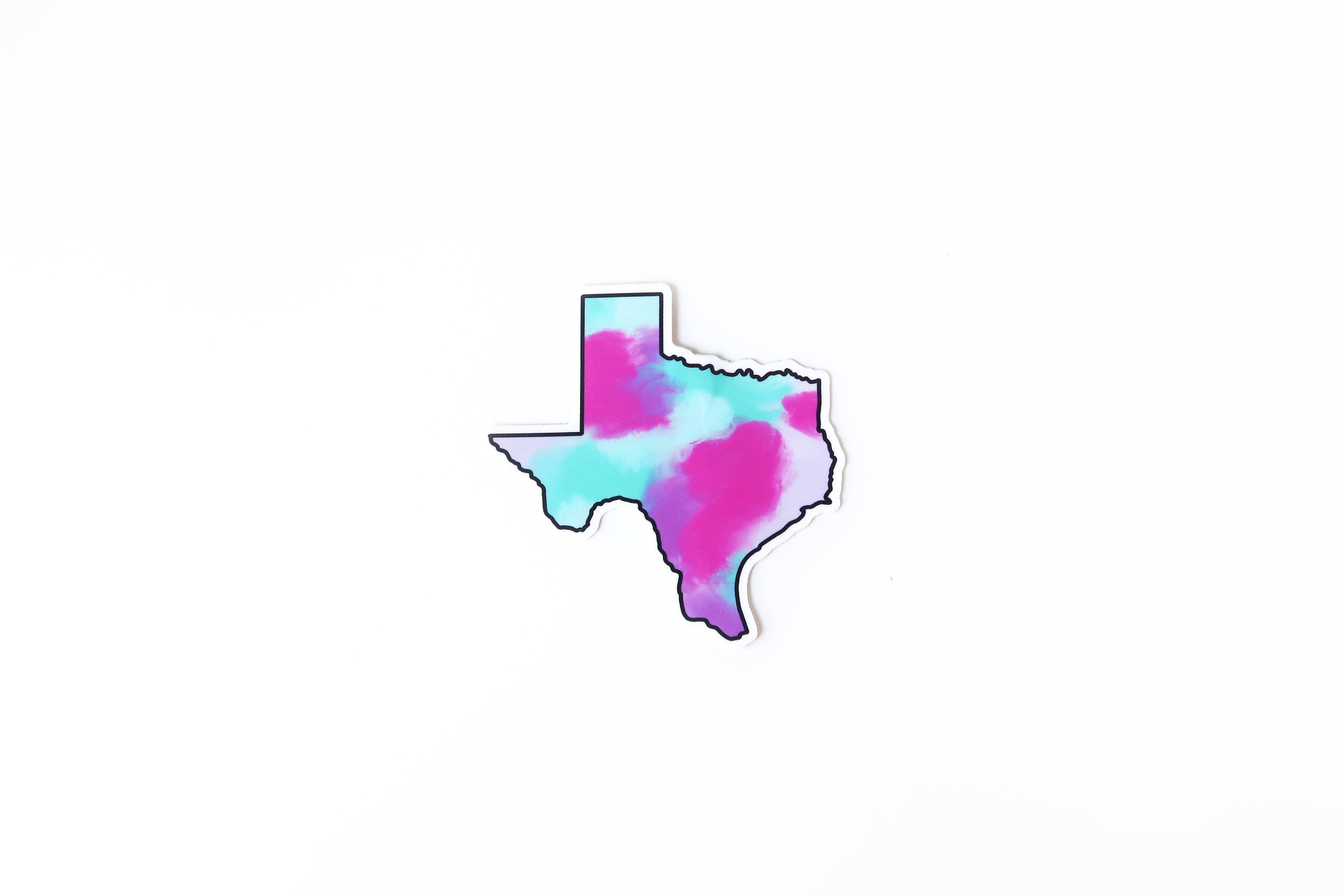 Texas Colorful Sticker | Trada Marketplace