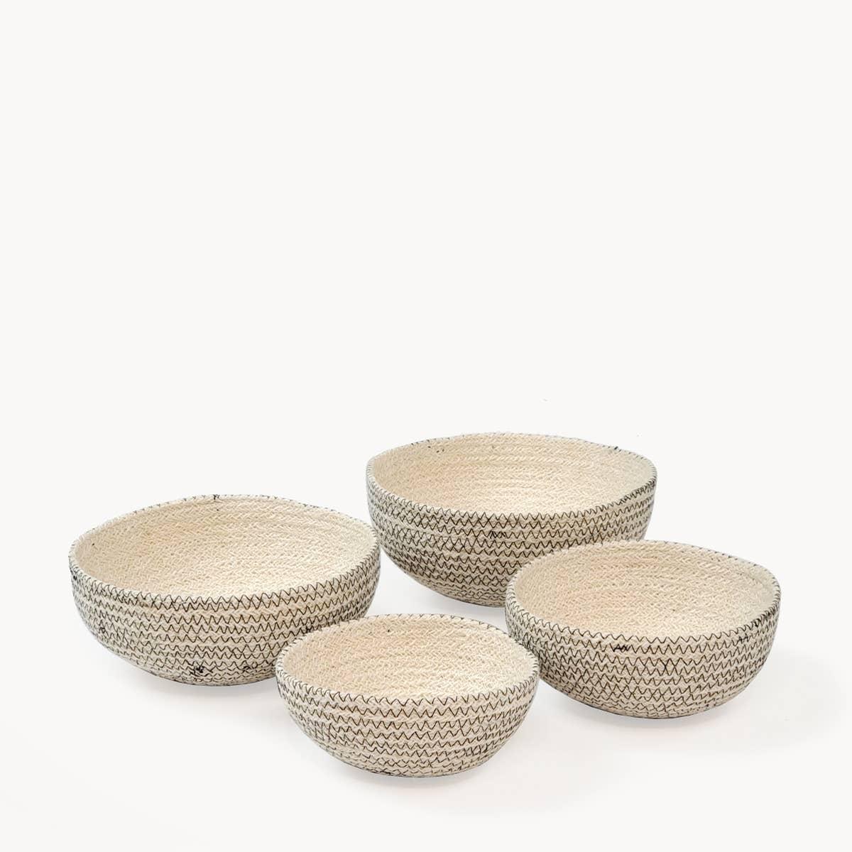 Amari Round Bowl - Black (Set of 4) | Trada Marketplace