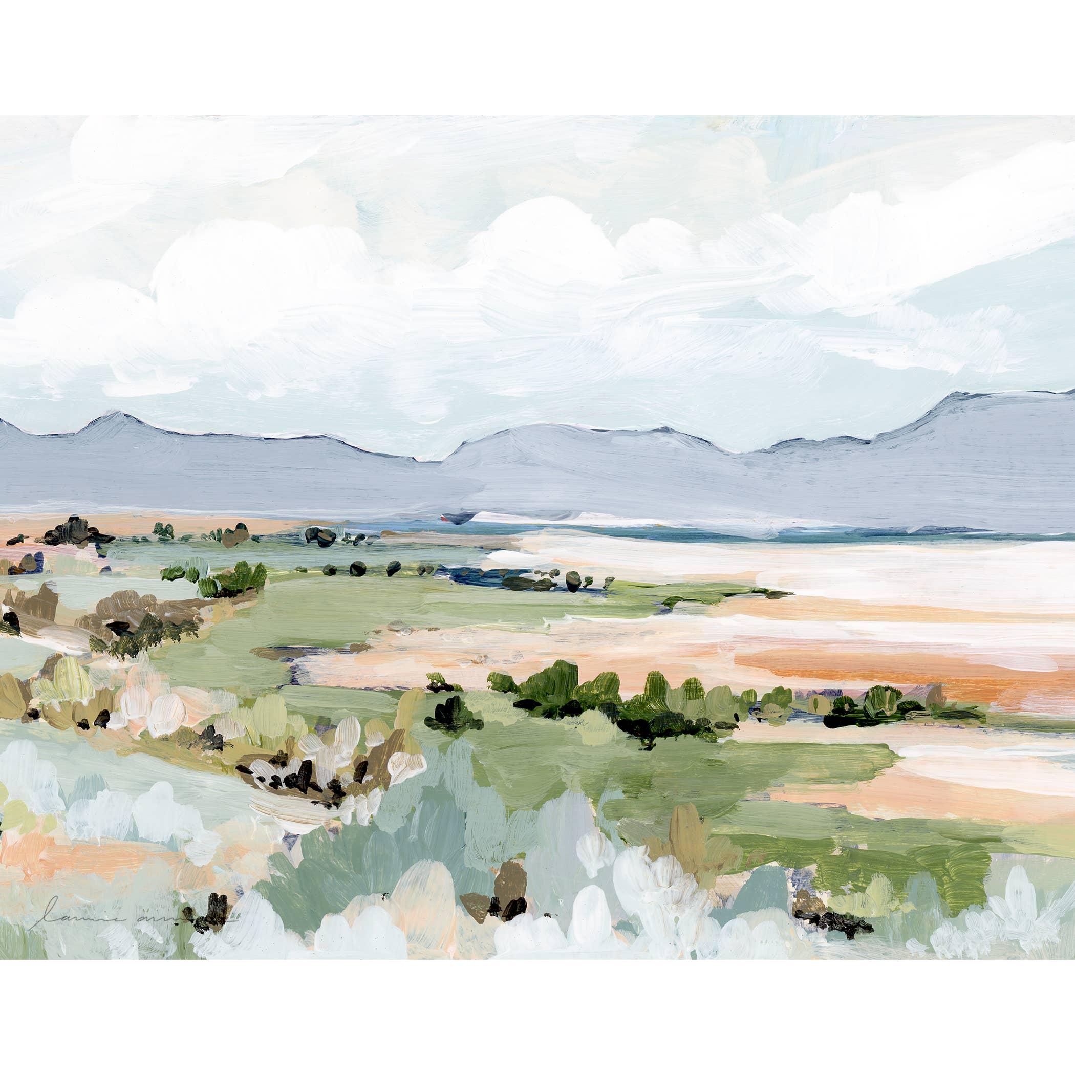 Antelope Island Horizontal Canvas Print   Trada Marketplace