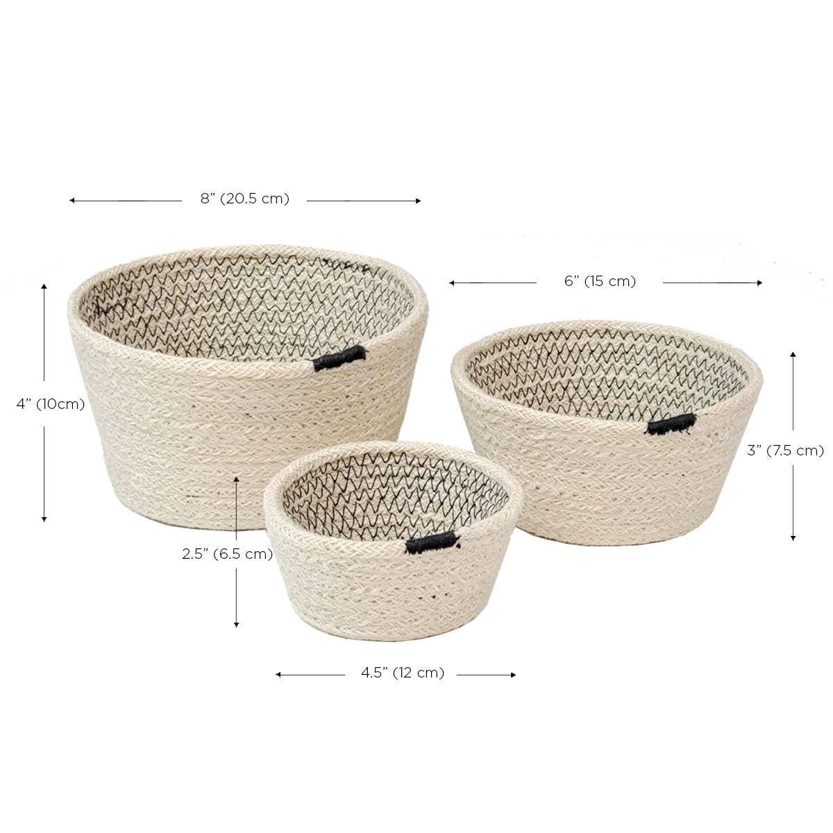 Amari Bowl - Black (Set of 3)   Trada Marketplace