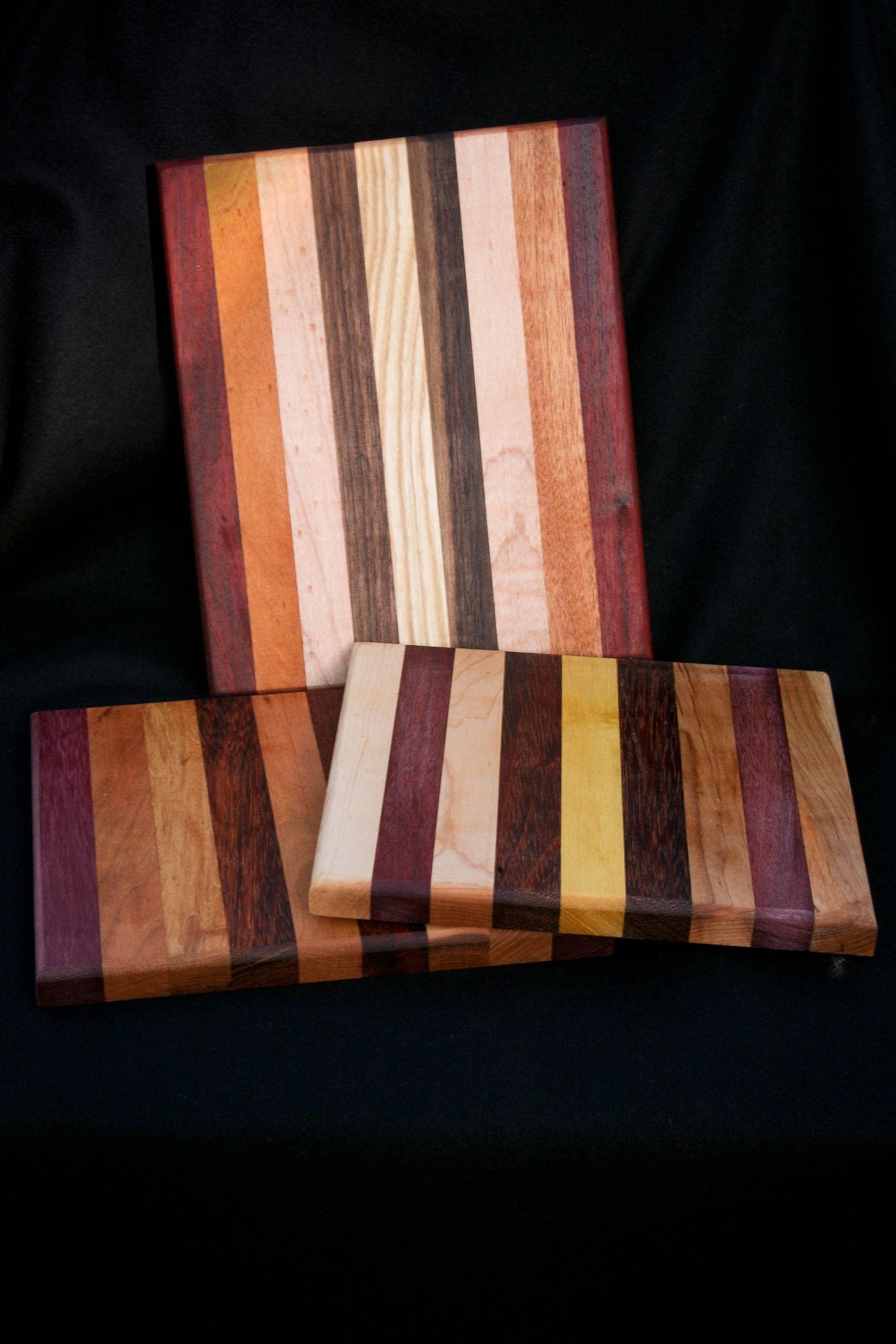 """8"""" x 8"""" Cutting Board Multi-Wood   Trada Marketplace"""