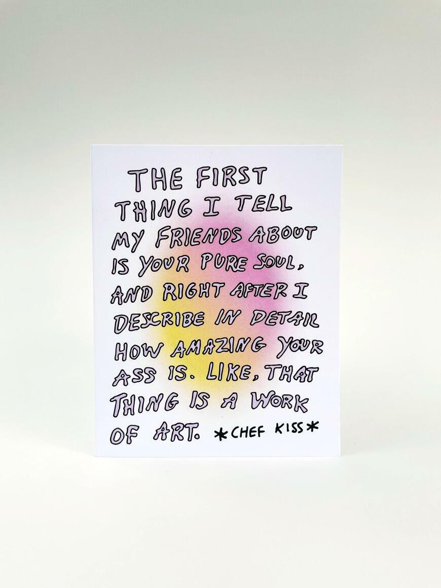 Amazing Ass   Greeting Card   Trada Marketplace