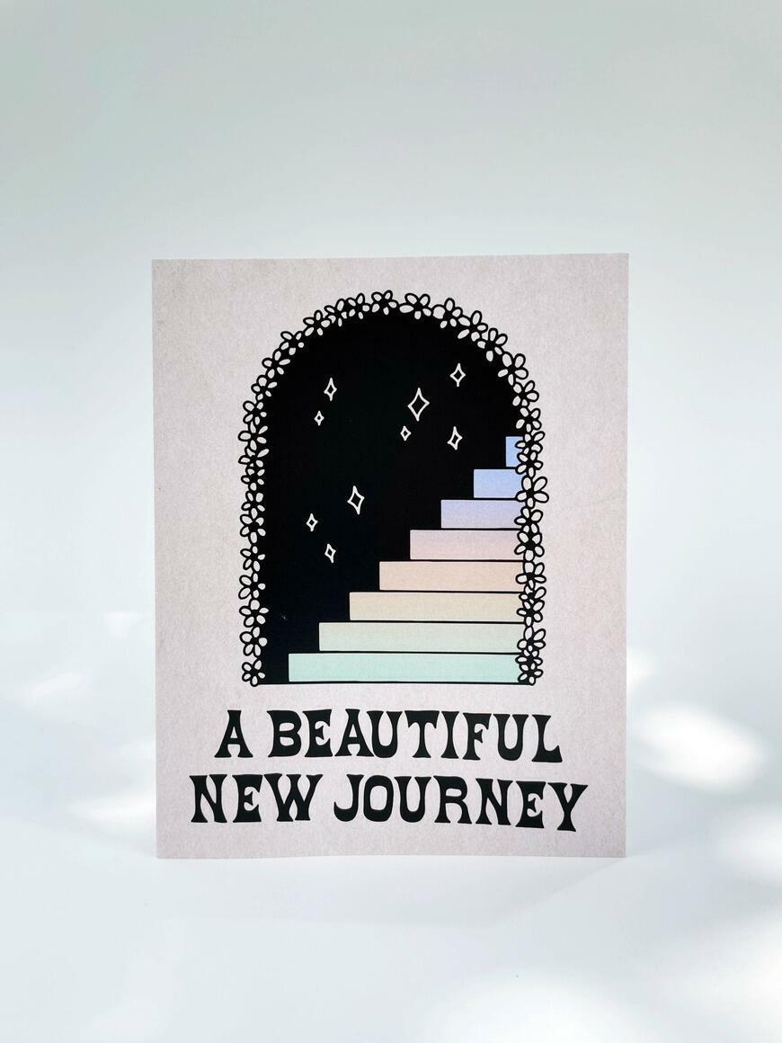 A Beautiful New Journey   Greeting Card   Trada Marketplace