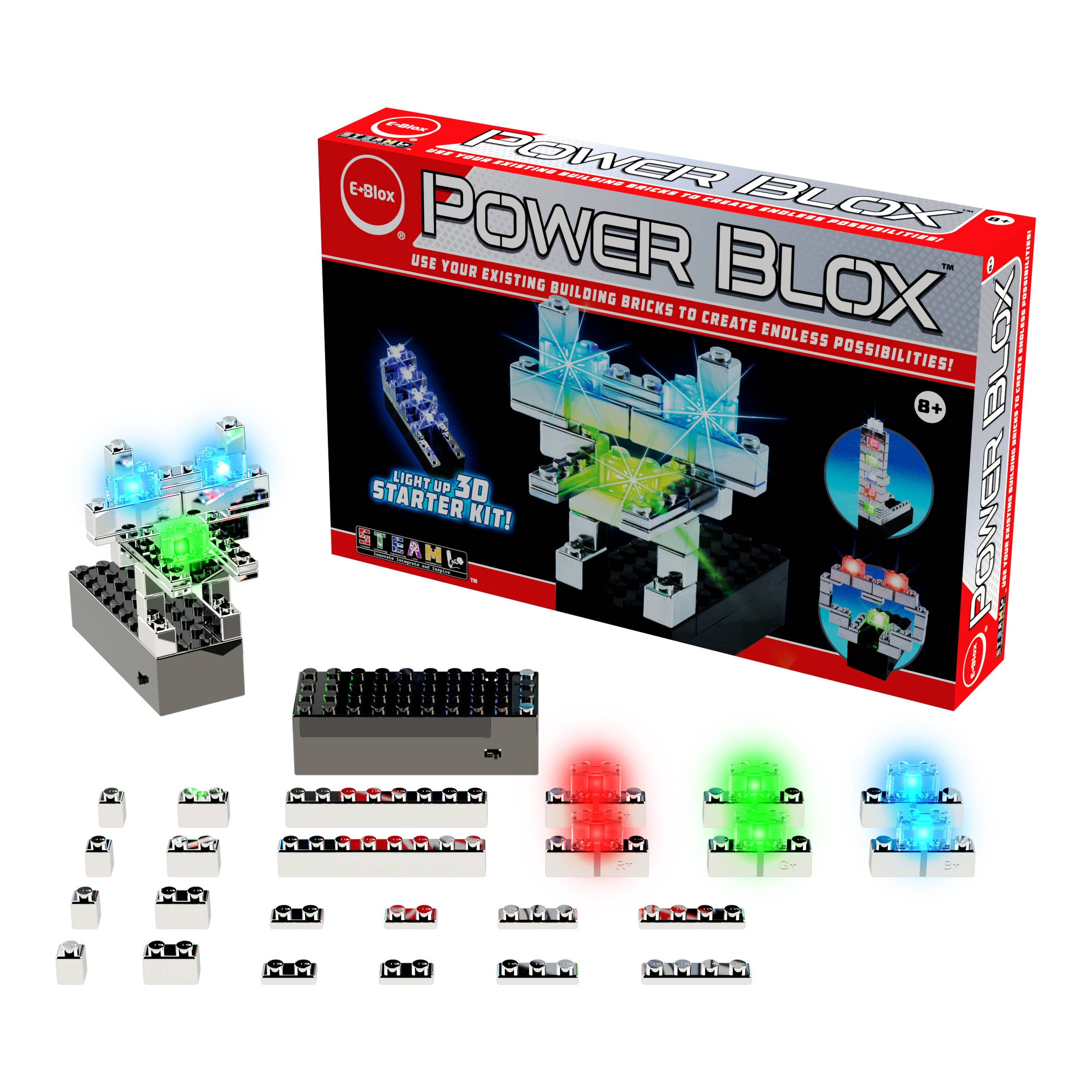Power Blox Starter - Build a Shiny Robot With Red Eyes   Trada Marketplace