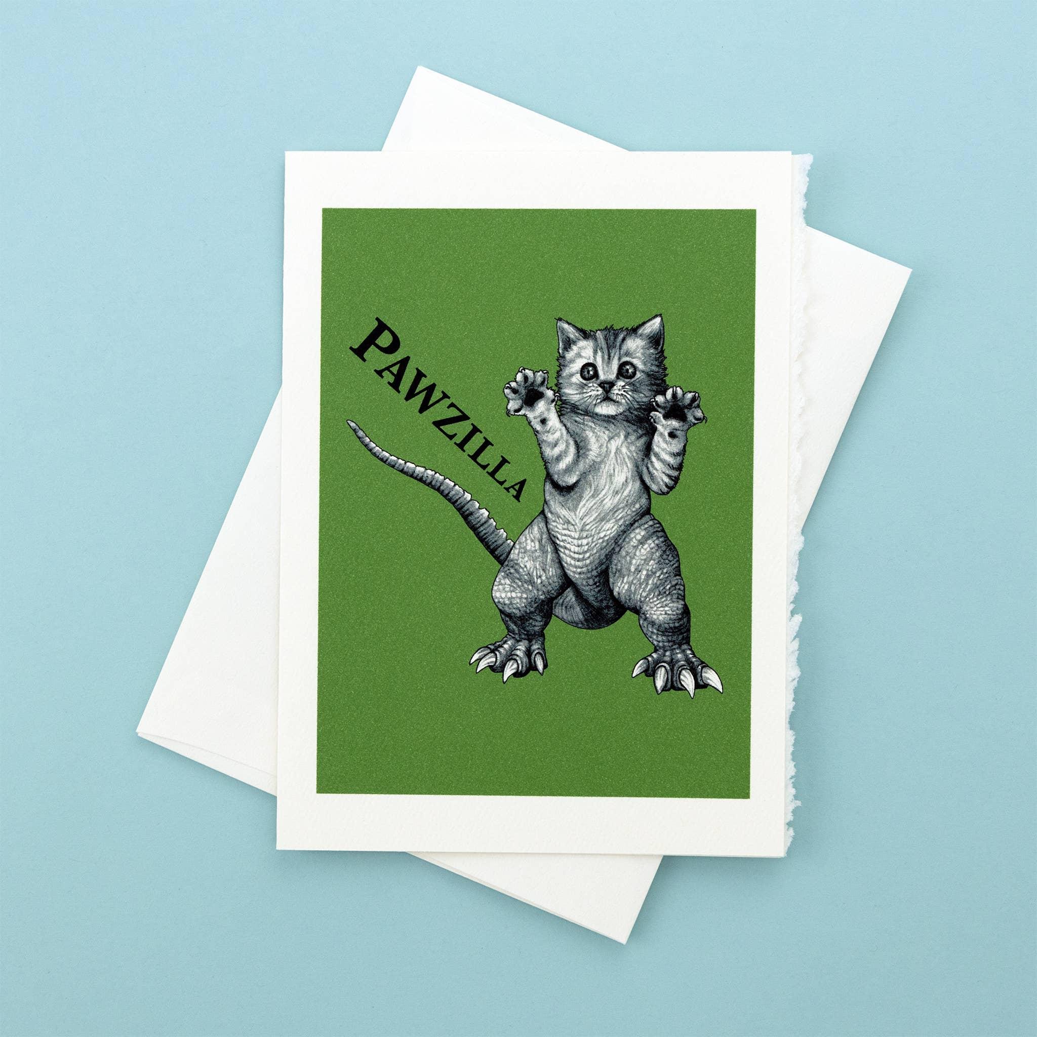 "Pawzilla 5x7"" Greeting Card   Trada Marketplace"