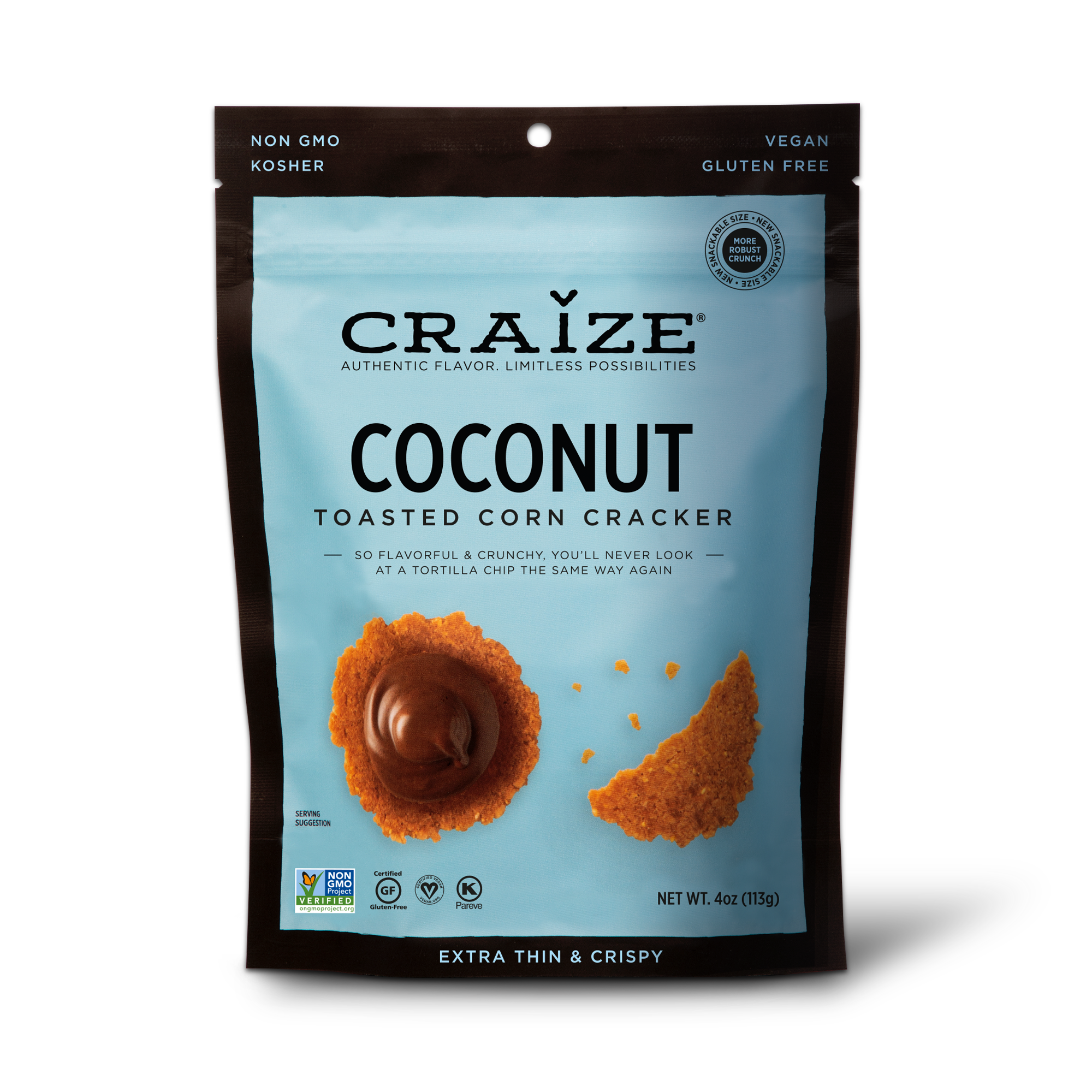 Coconut Toasted Corn Crackers 4oz | Trada Marketplace