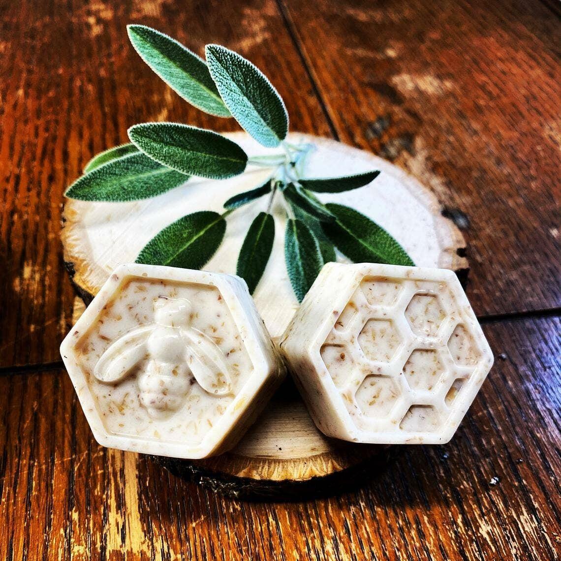 Honey Almond Flax Soap Bars   Trada Marketplace