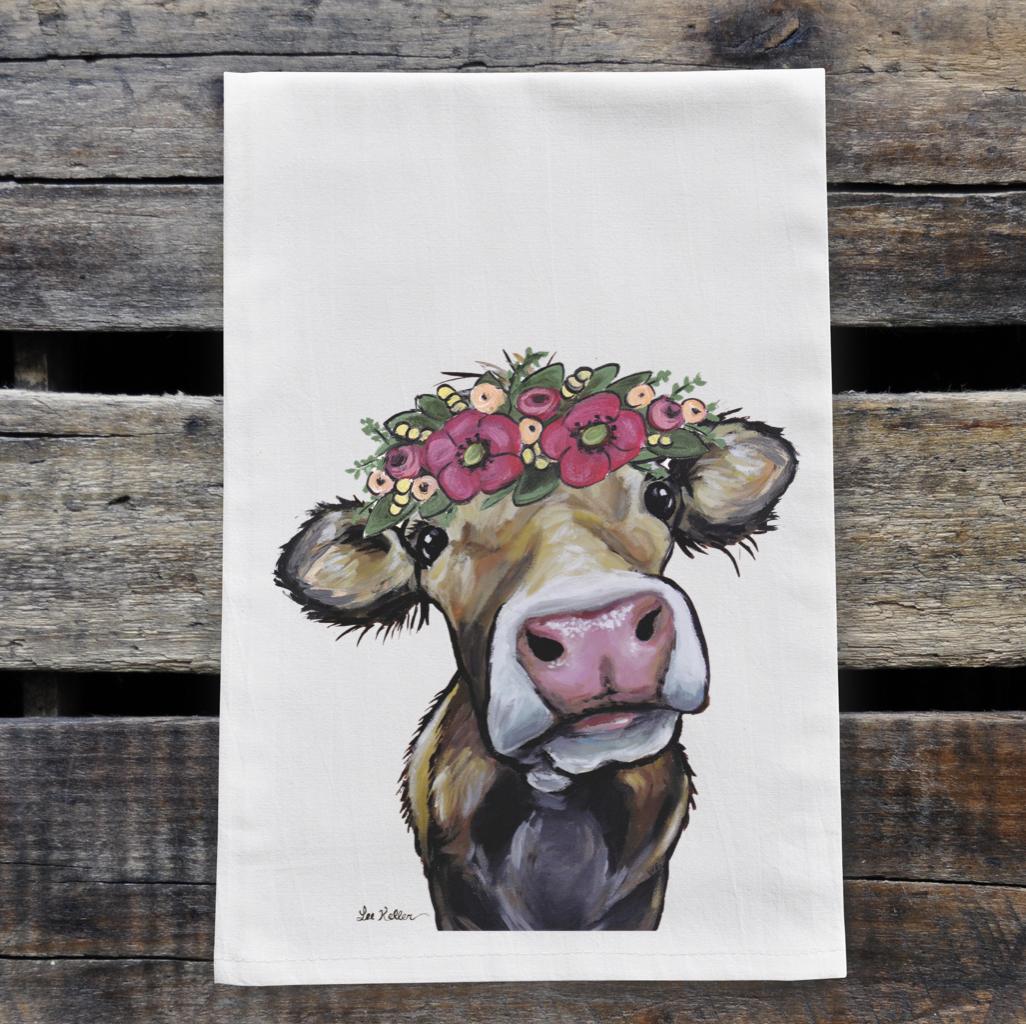 Cow Flour Sack Towel, Farm Animal Tea Towel, Cow Tea Towel   Trada Marketplace