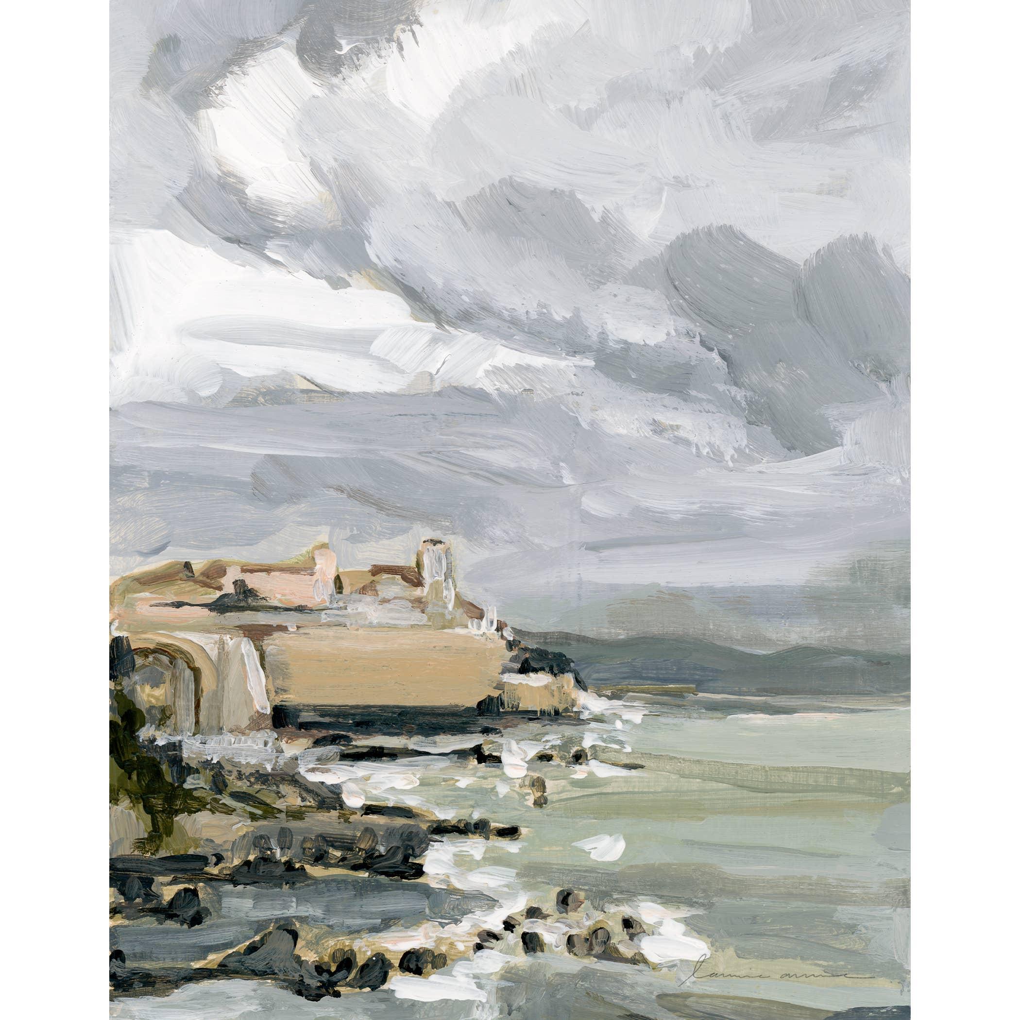 Antibes Coast Vertical Canvas Print   Trada Marketplace