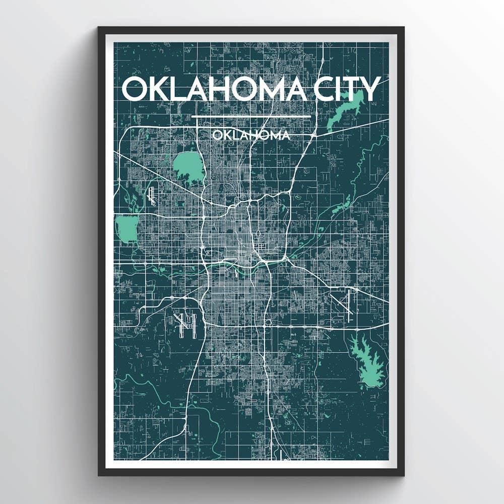 Oklahoma City Map | Trada Marketplace