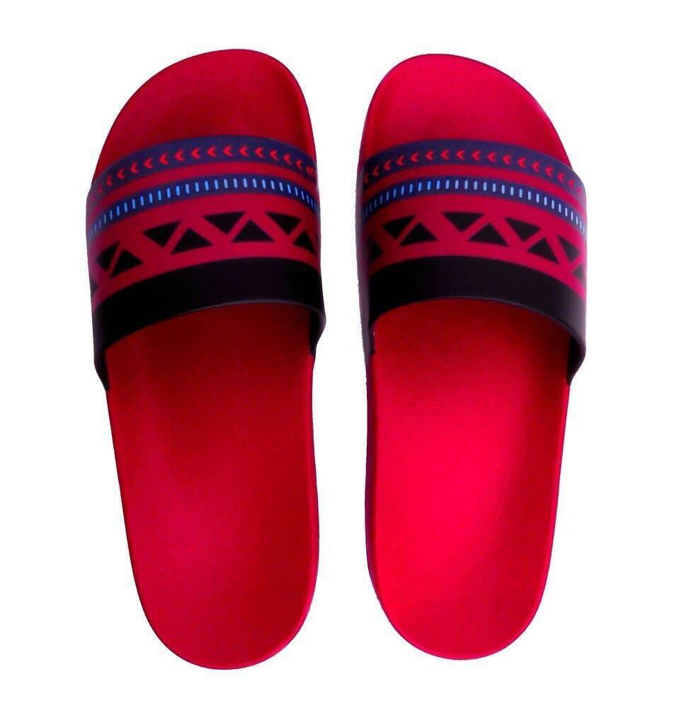 Red Ethnic Slide Sandals | Trada Marketplace