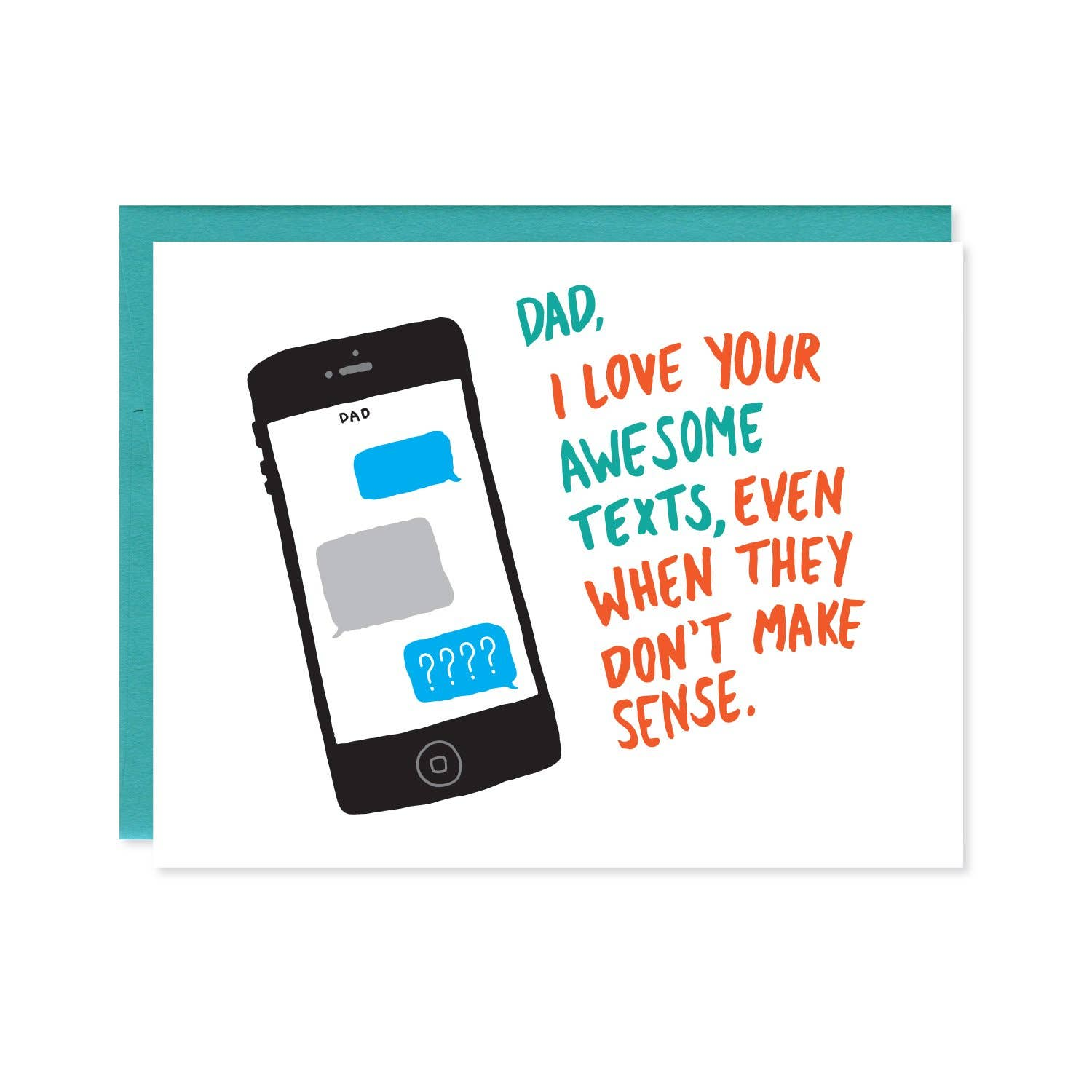 Dad Texts Funny Father's Day Card | Trada Marketplace