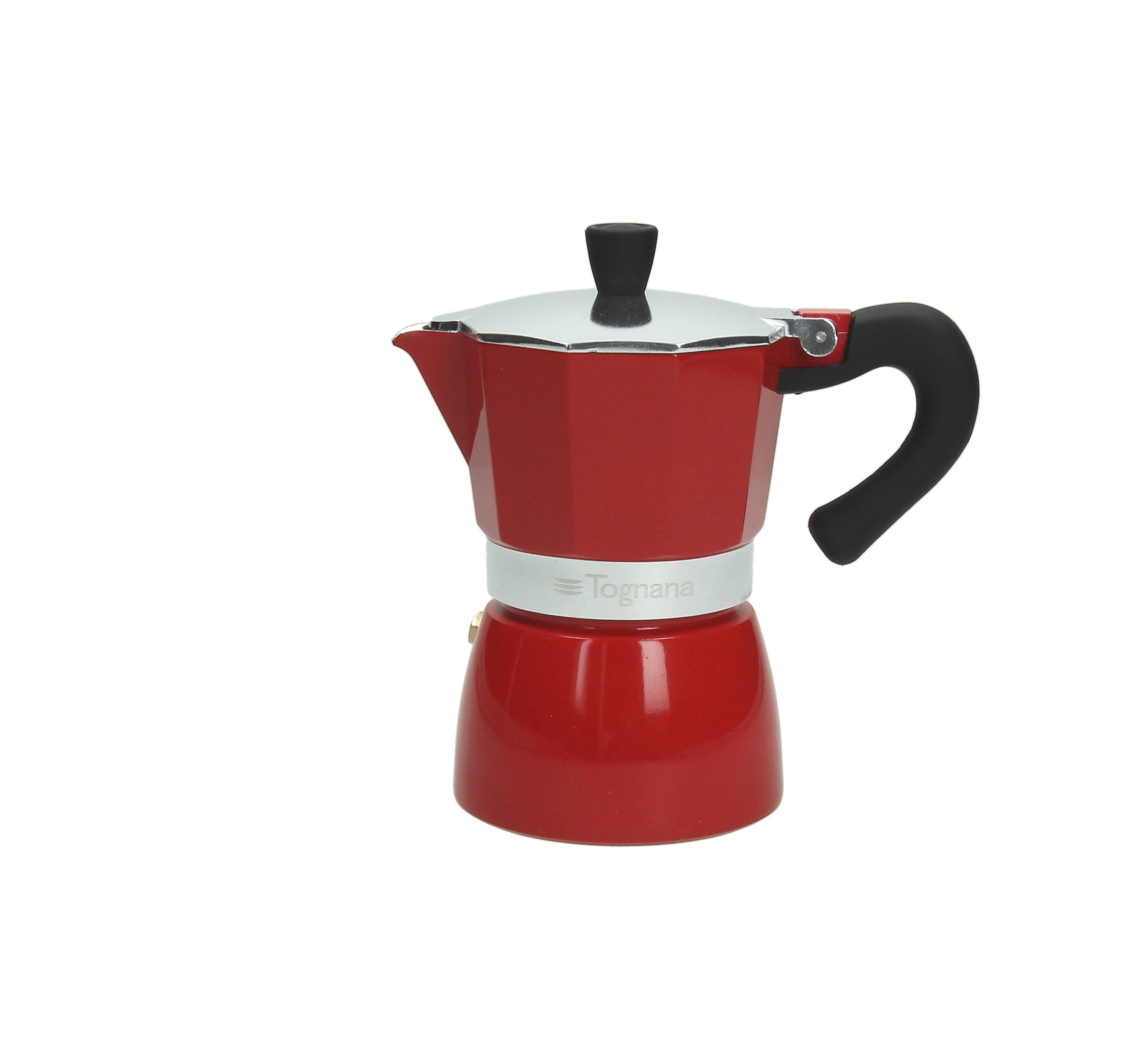 """6c """"Extra"""" Style Moka Pot - Red   Trada Marketplace"""