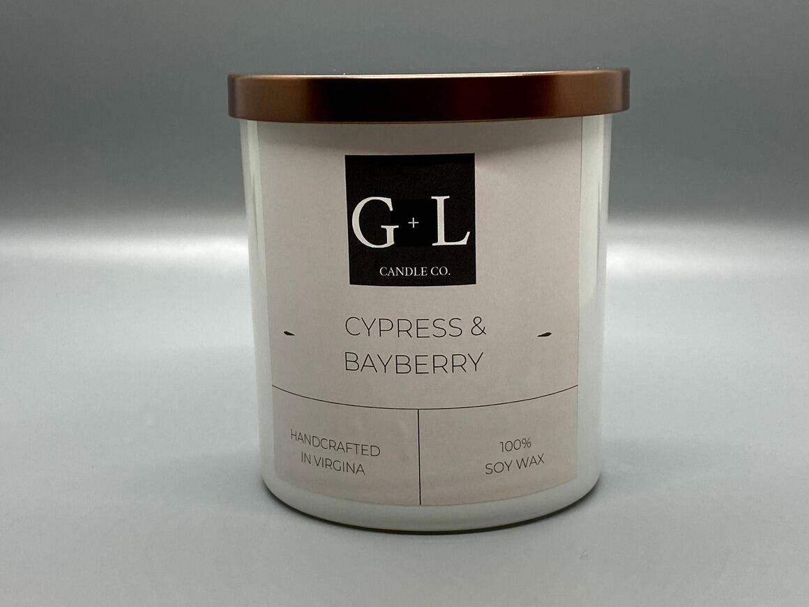 Cypress and Bayberry - 8 oz. Candle   Trada Marketplace