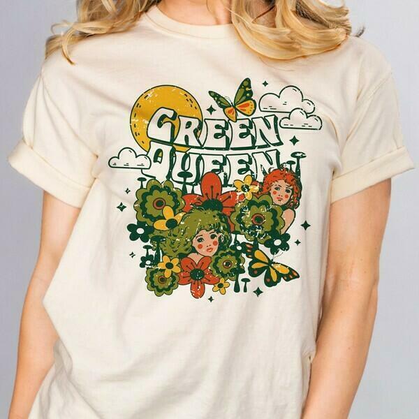 Green Queen Shirt   Trada Marketplace
