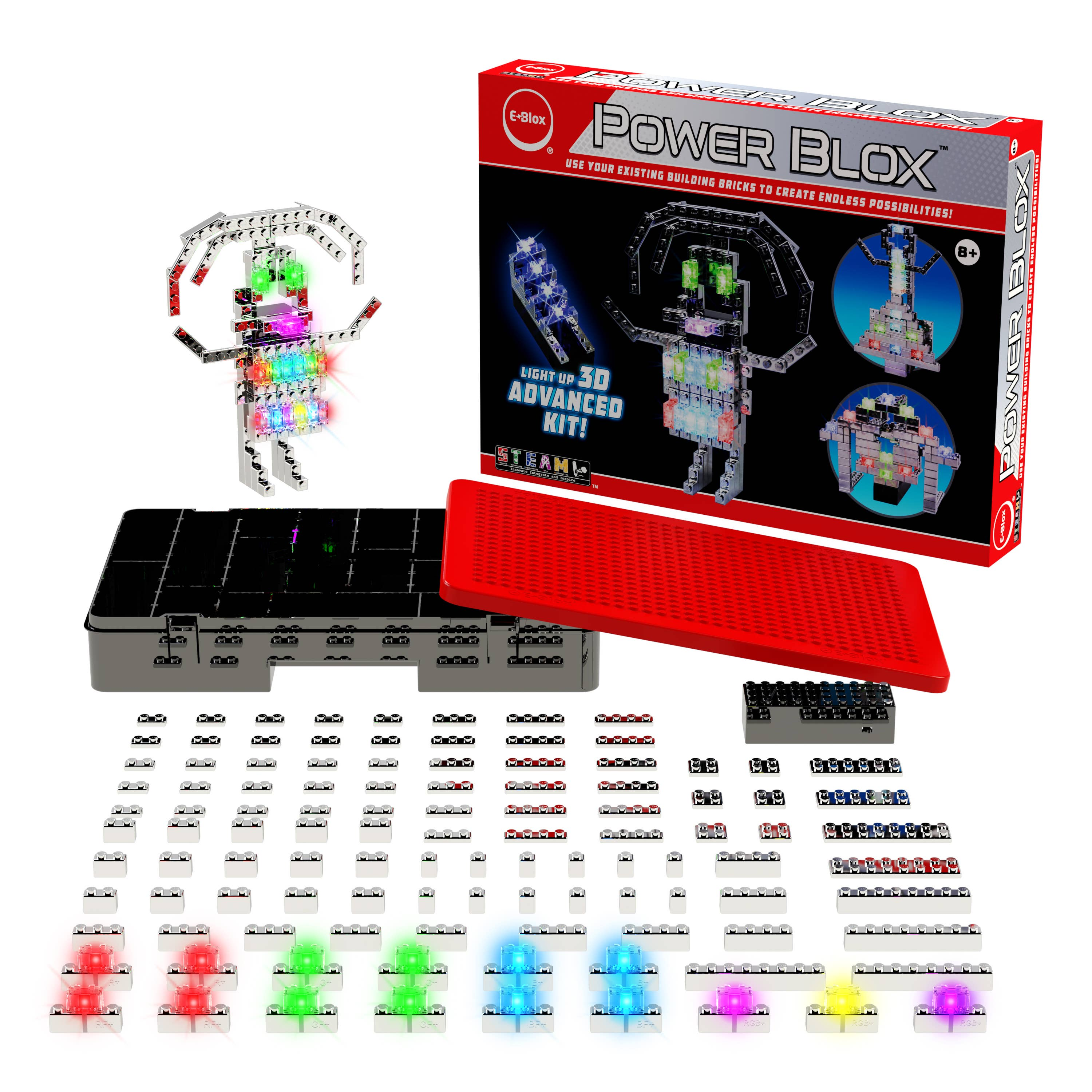 Power Blox Advanced Set - Build a Girl with Colorful Glowing Dress   Trada Marketplace