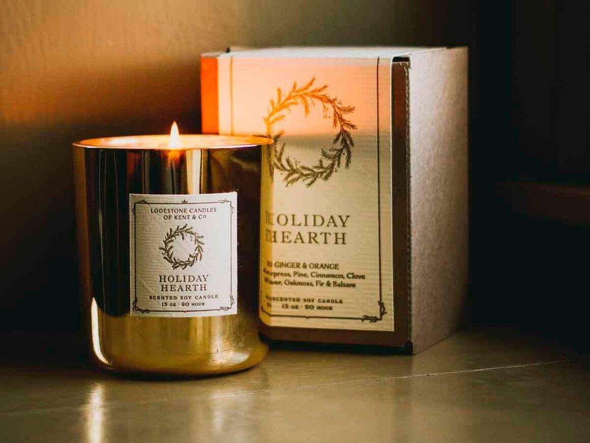 Holiday Hearth I Soy Candle, 13 oz, 90 hour   Trada Marketplace