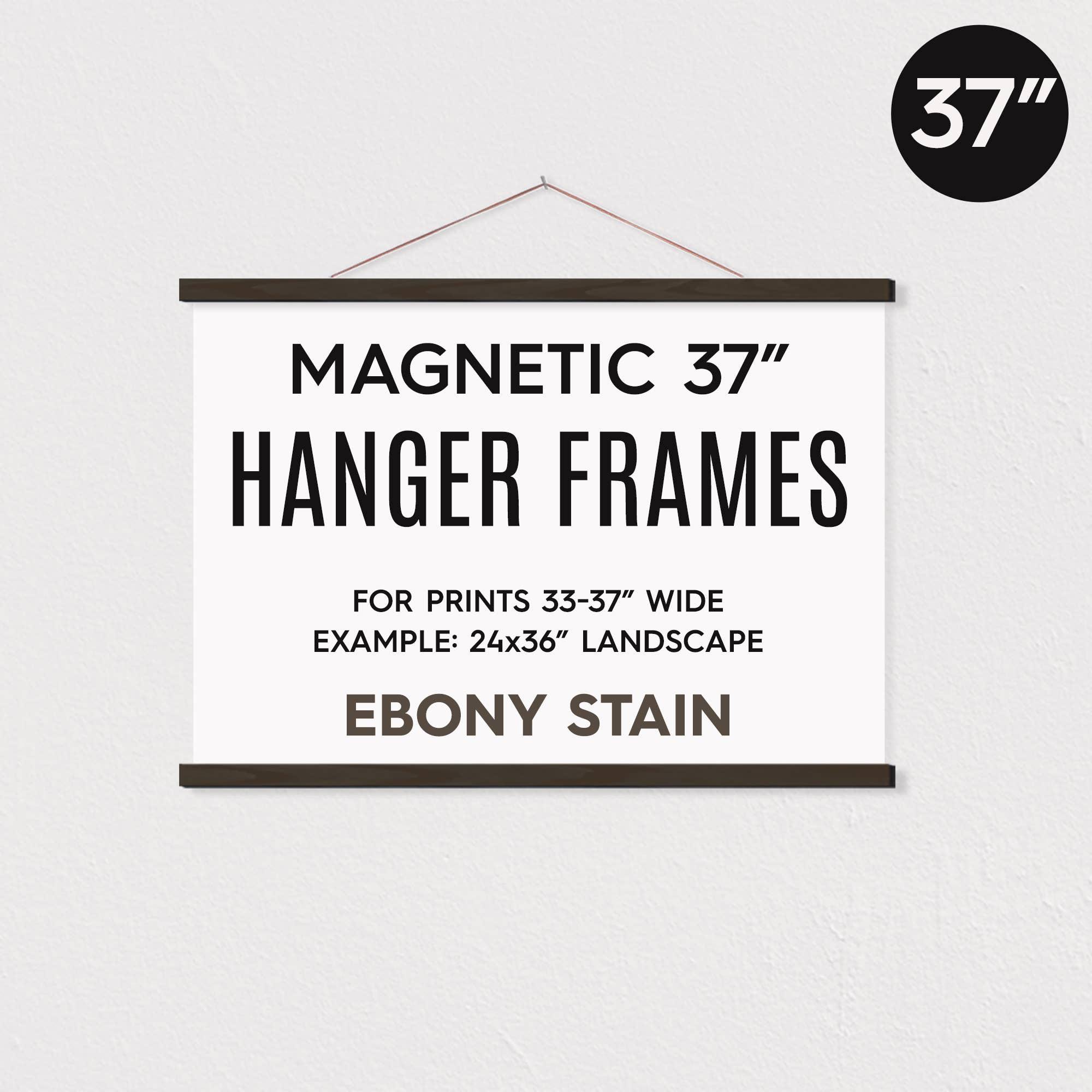 """37"""" MAGNETIC Poster Hanger Frame for 24x36"""" Landscape Prints   Trada Marketplace"""
