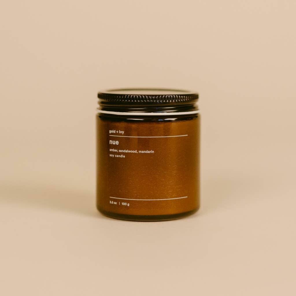 nue 3.5 oz. soy candle - mini | Trada Marketplace