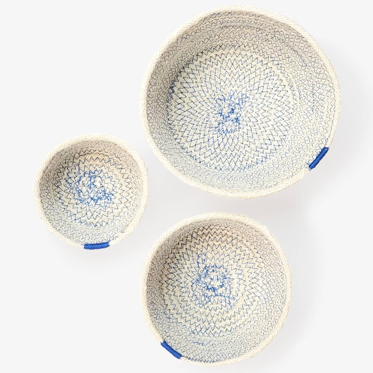 Amari Bowl - Blue (Set of 3)   Trada Marketplace
