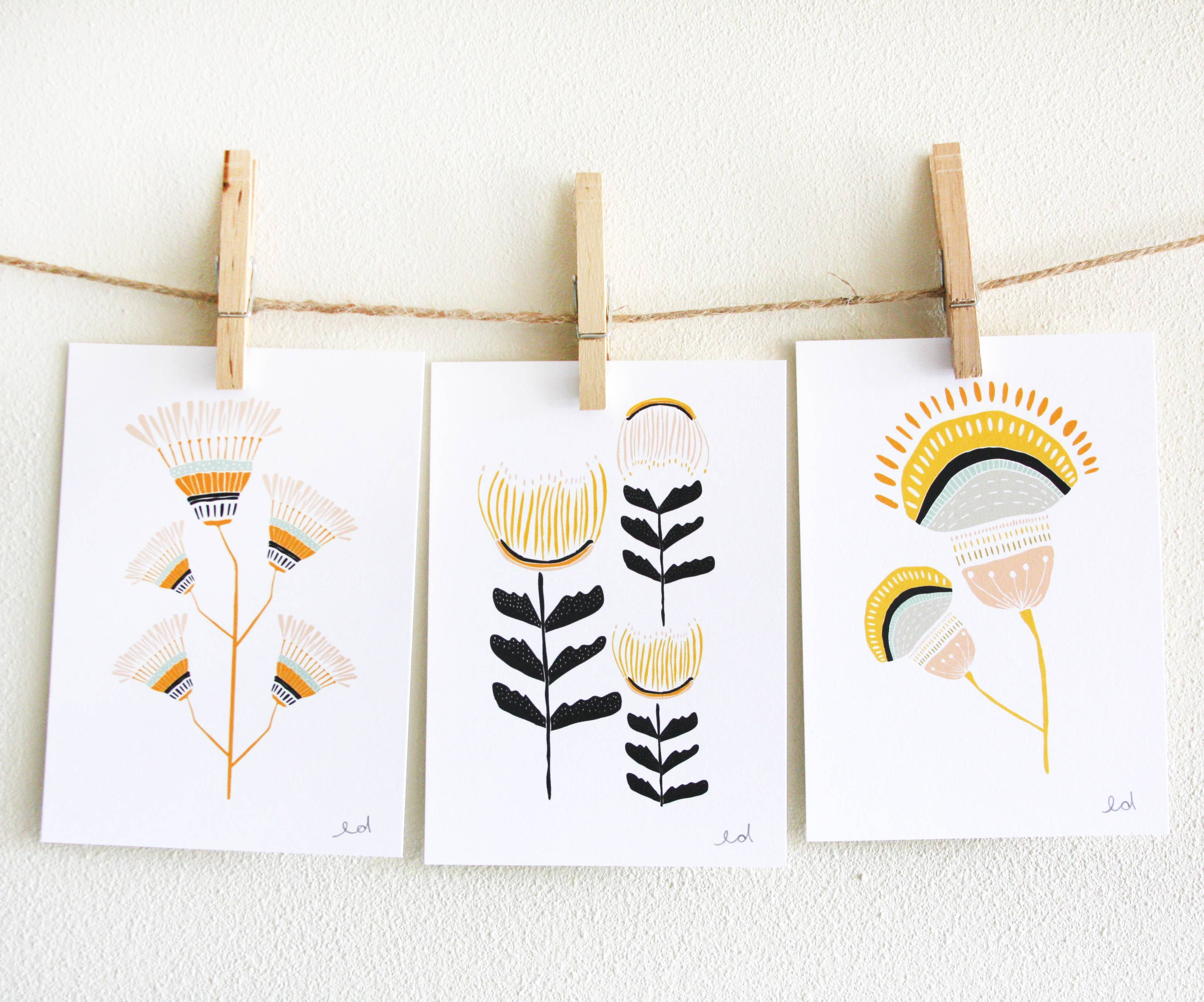 Desert Flowers Art Print Set | Trada Marketplace