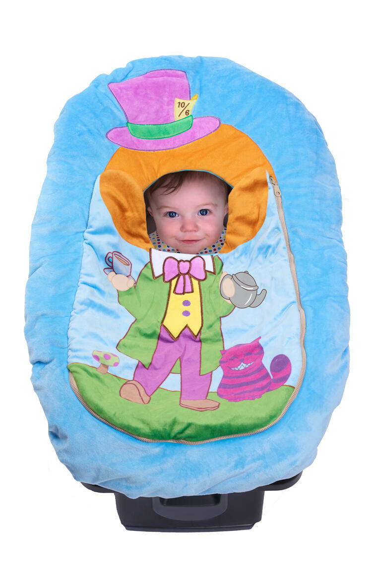 Car Seat Cuties Mad Hatter: Infant Car Seat Cover   Trada Marketplace