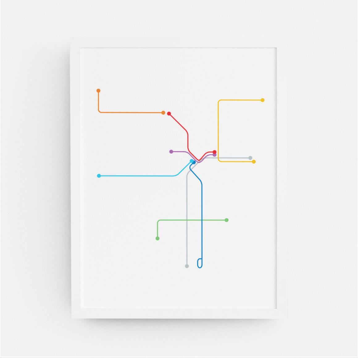 Los Angeles Metro Map Print | Trada Marketplace