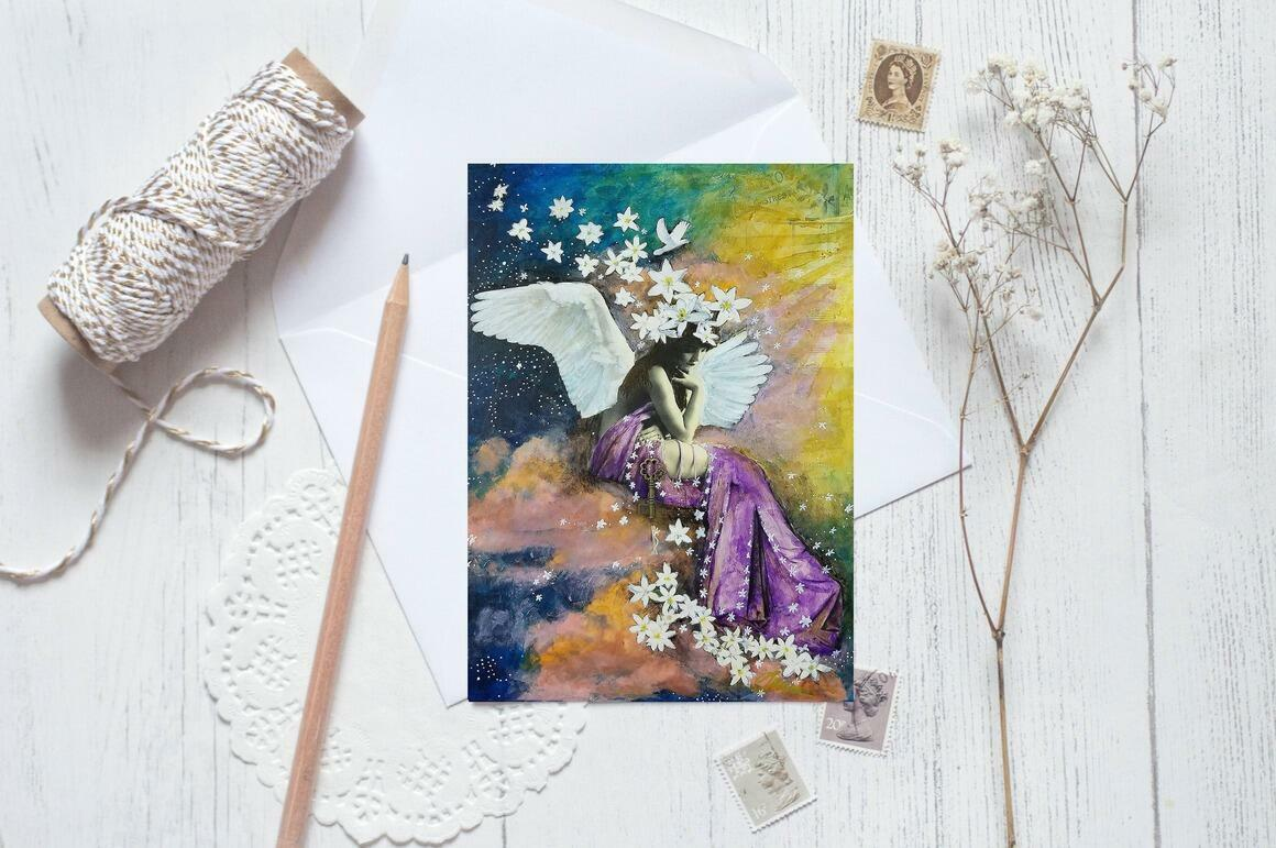 Heavenly Greeting Cards pkg of 5   Trada Marketplace